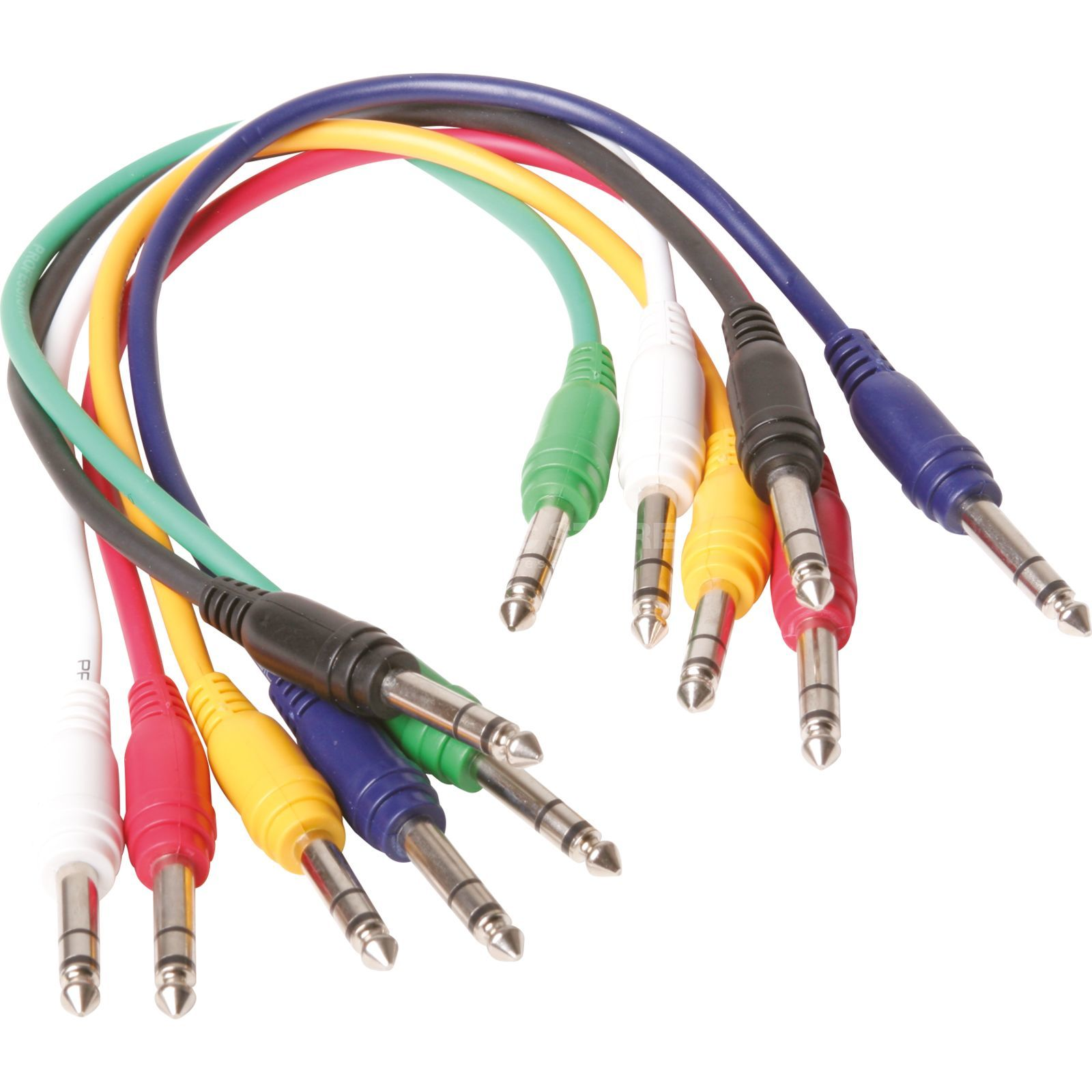 MUSIC STORE Patch Cable 1,5m Stereo Pack Of 6 Produktbillede