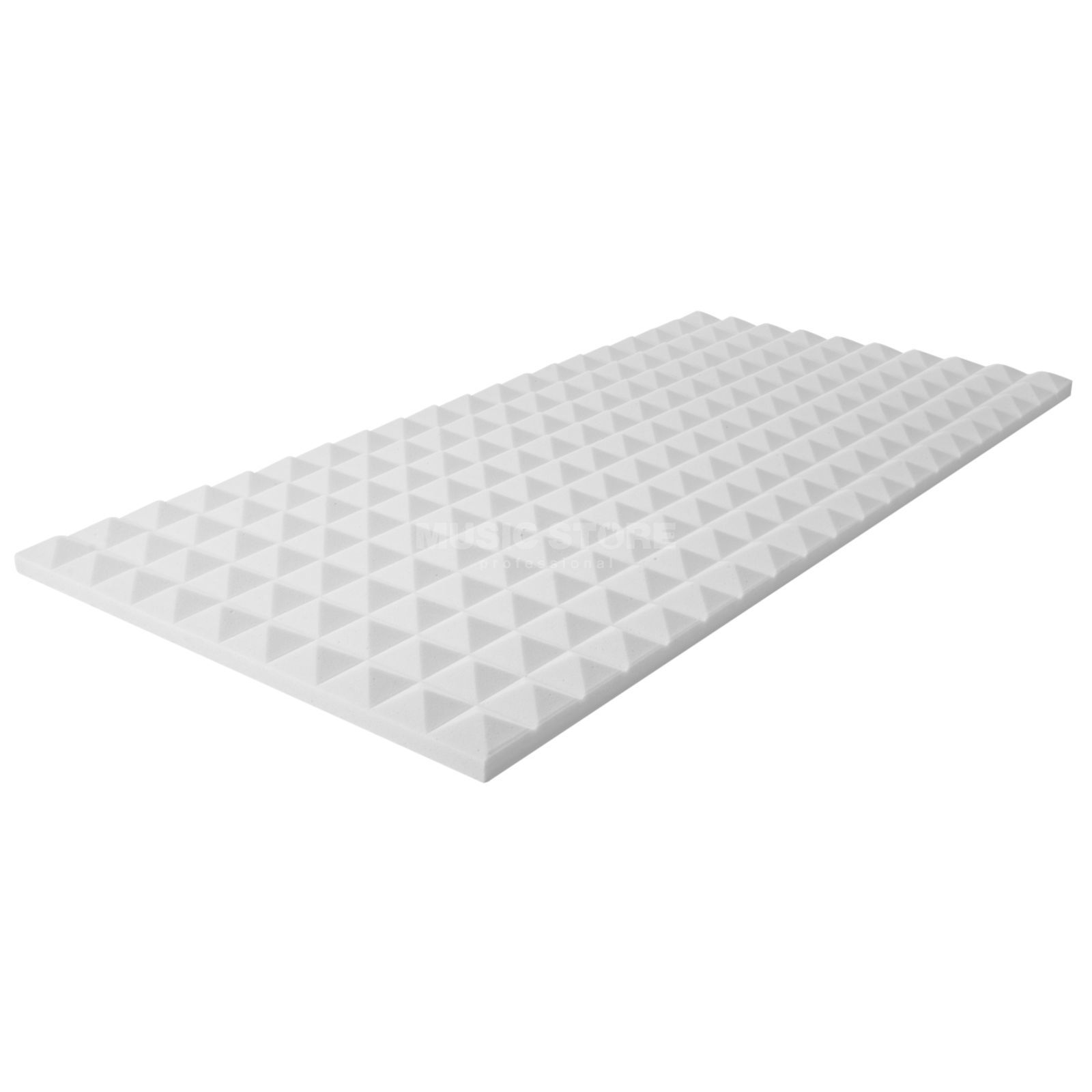 MUSIC STORE Pyramis Acoustic Foam 30 white 100x50cm,3cm,Basotect,adhesive Product Image