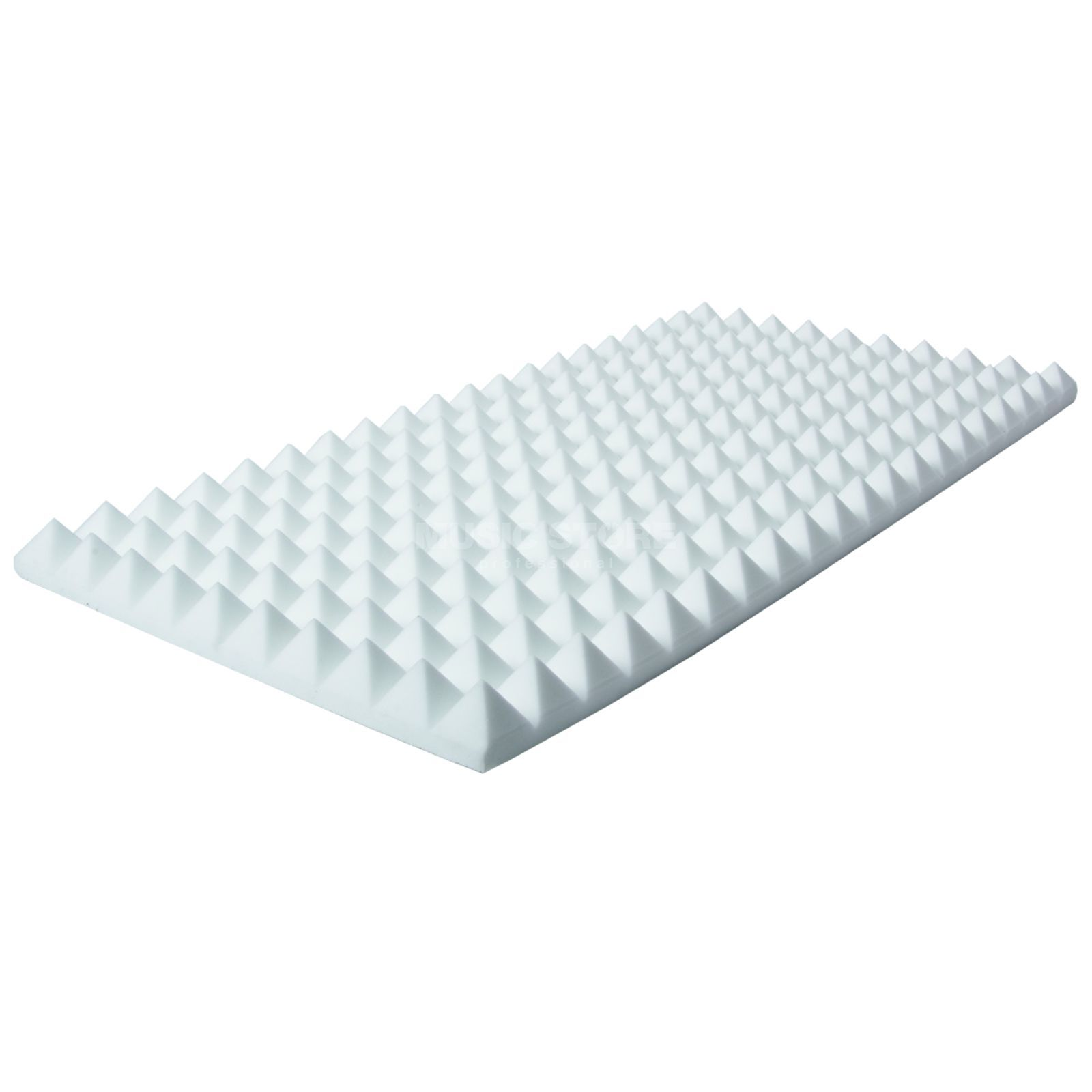 MUSIC STORE Pyramis Acoustic Foam 50 white 100x50cm,5cm,Basotect,adhesive Produktbillede