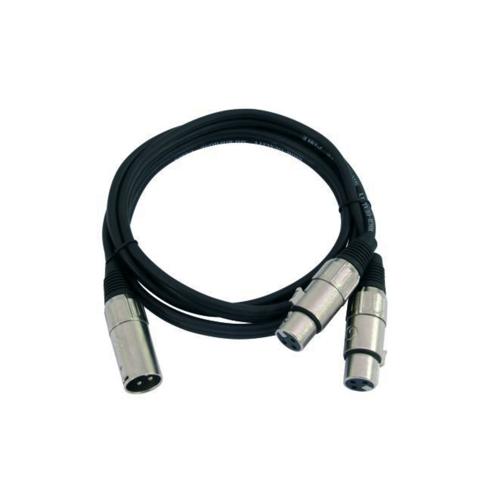 MUSIC STORE Splitter Cable 1,5m 2x Female XLR-Single Male XLR Produktbillede