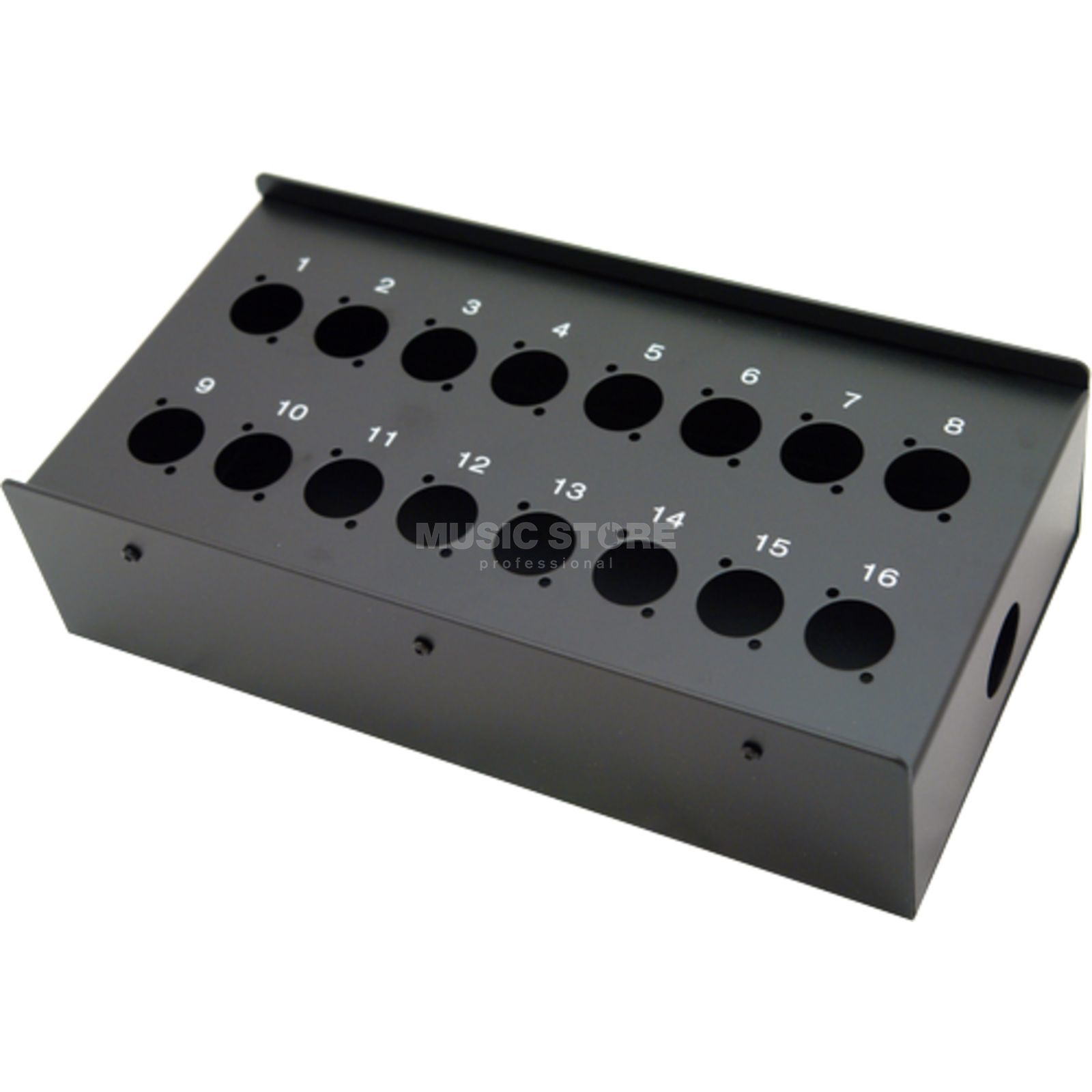 MUSIC STORE Stagebox - 16 / 16-Holes for Floor/Wall, D-Series   Produktbillede