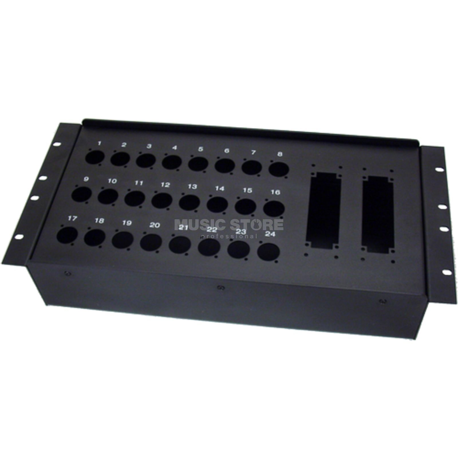 "MUSIC STORE Stagebox - 19"" 24 / 24-Holes for Rack install, D-Series   Produktbillede"
