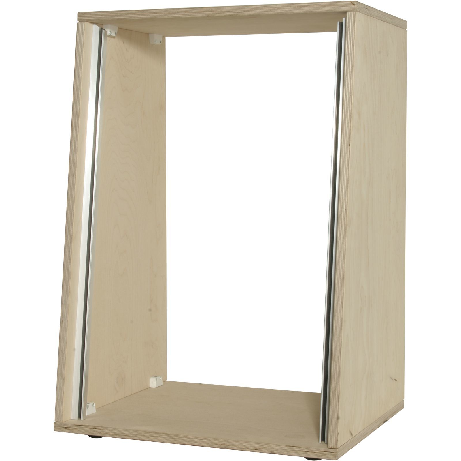 MUSIC STORE Studiorack 16 HE Birch MP roh Kit, 7° angled Produktbillede
