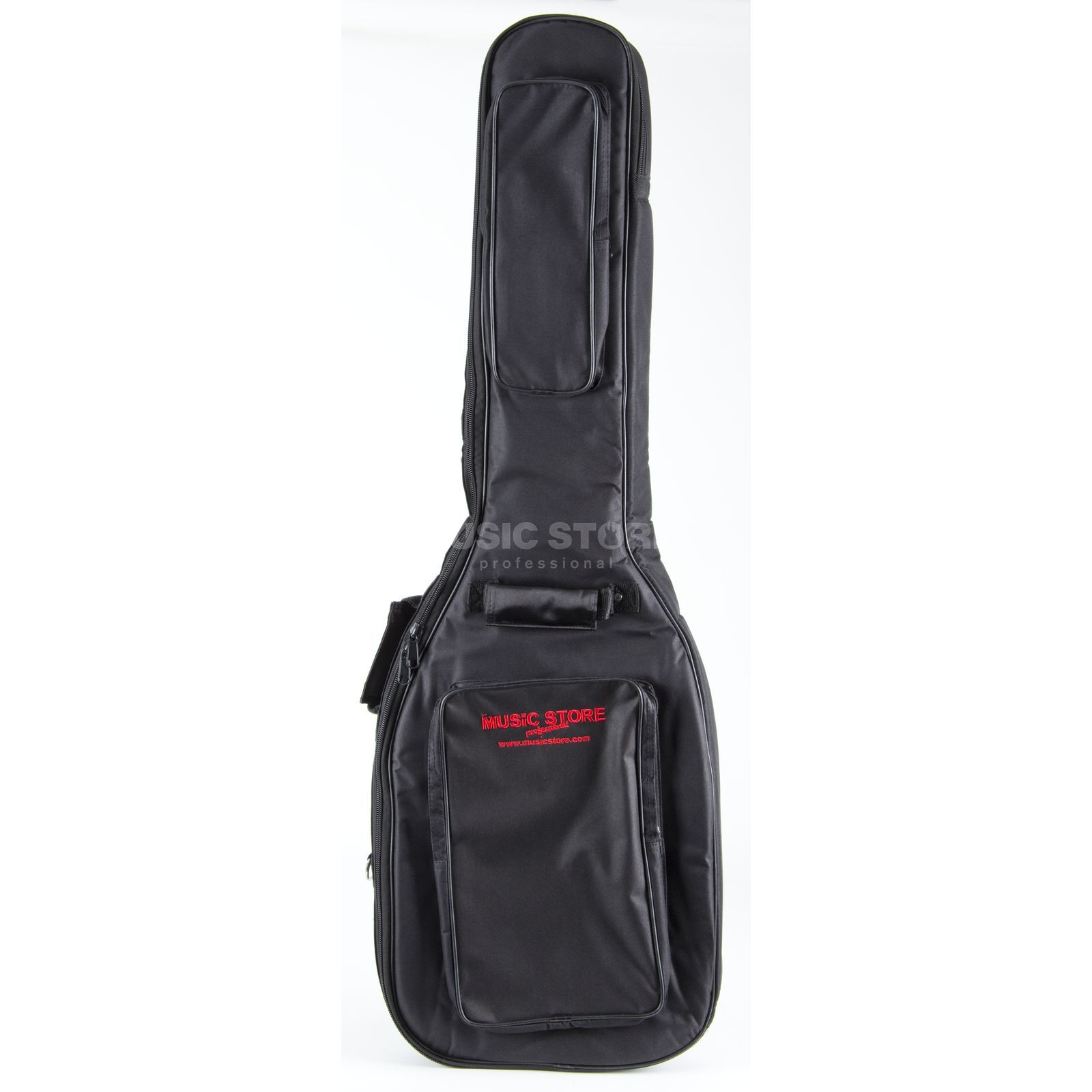 "MUSIC STORE ""Super Deluxe"" Gigbag Electric Bass Black/Red Logo Immagine prodotto"
