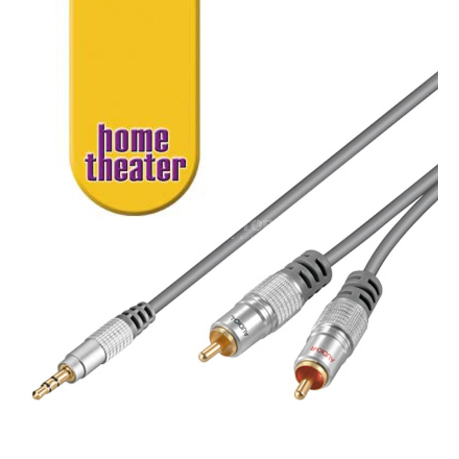 MUSIC STORE Y-Audio Cable Cinch 5m  Produktbillede