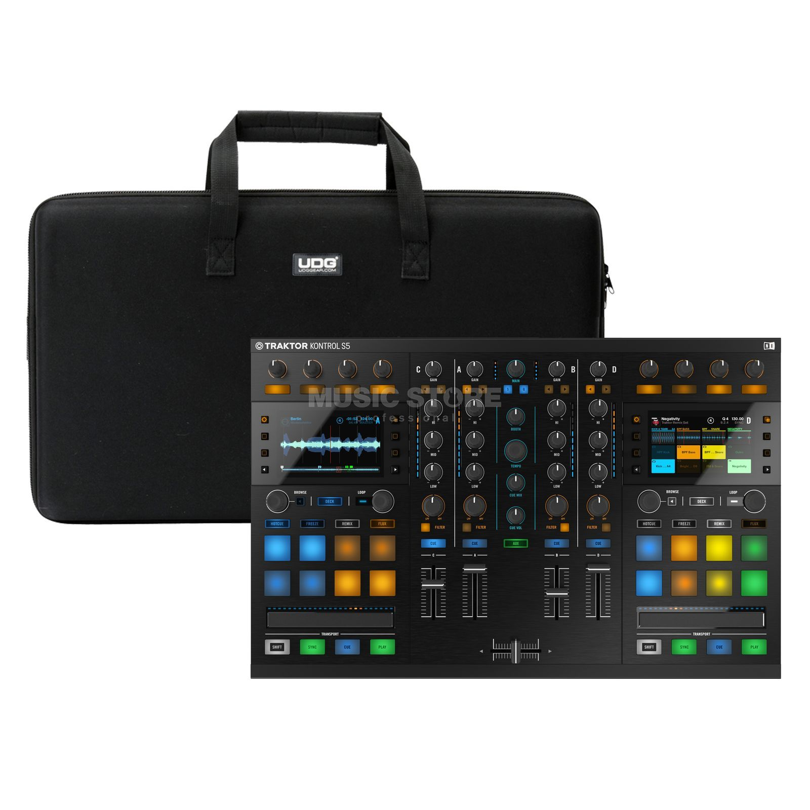 Native Instruments S5 + Hardcase (U8302BL) - Set Produktbillede
