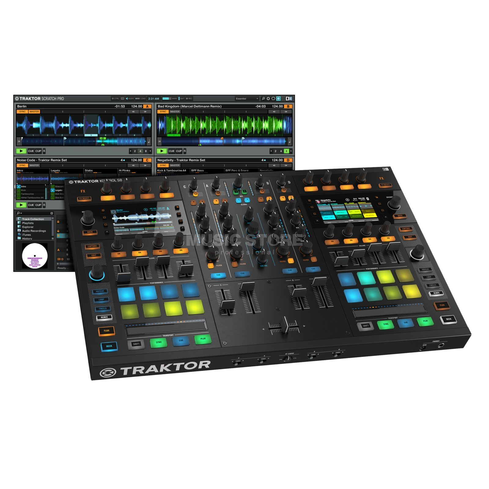 Native Instruments TRAKTOR Kontrol S8 Flagship All-In-One DJ systeem Productafbeelding