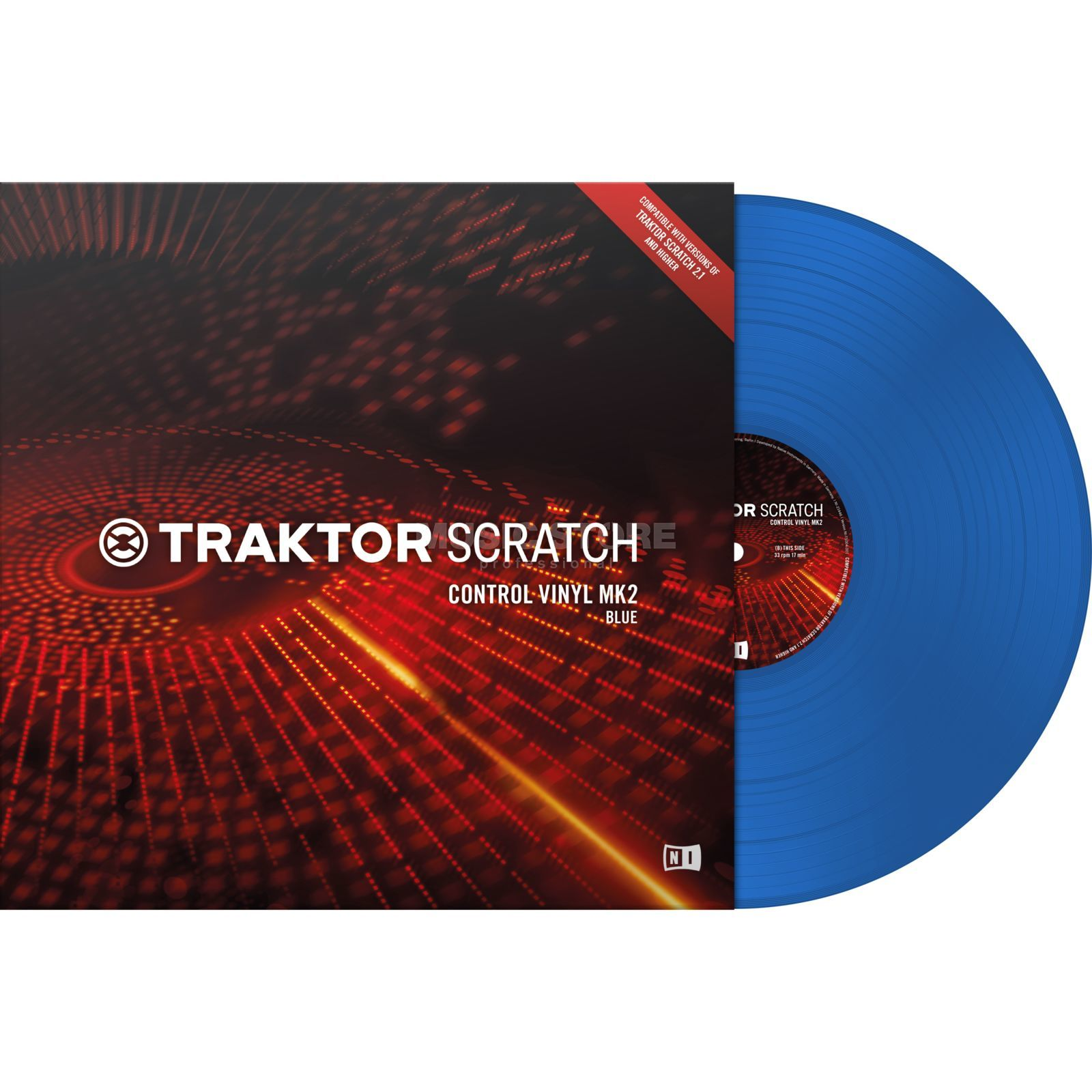 Native Instruments Traktor Scratch Control Vinyl MK2 Blue Productafbeelding