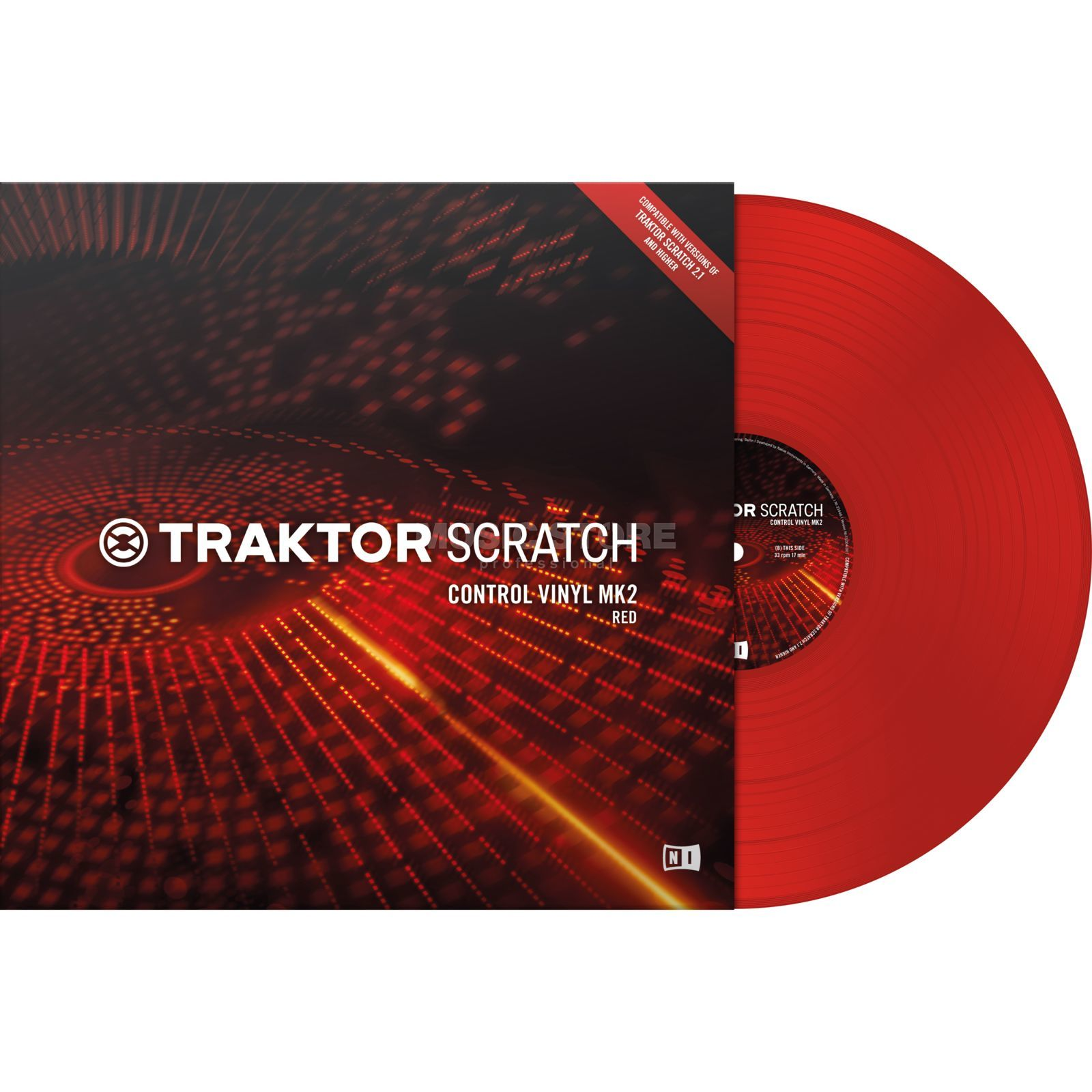 Native Instruments Traktor Scratch Control Vinyl MK2 Red Produktbild