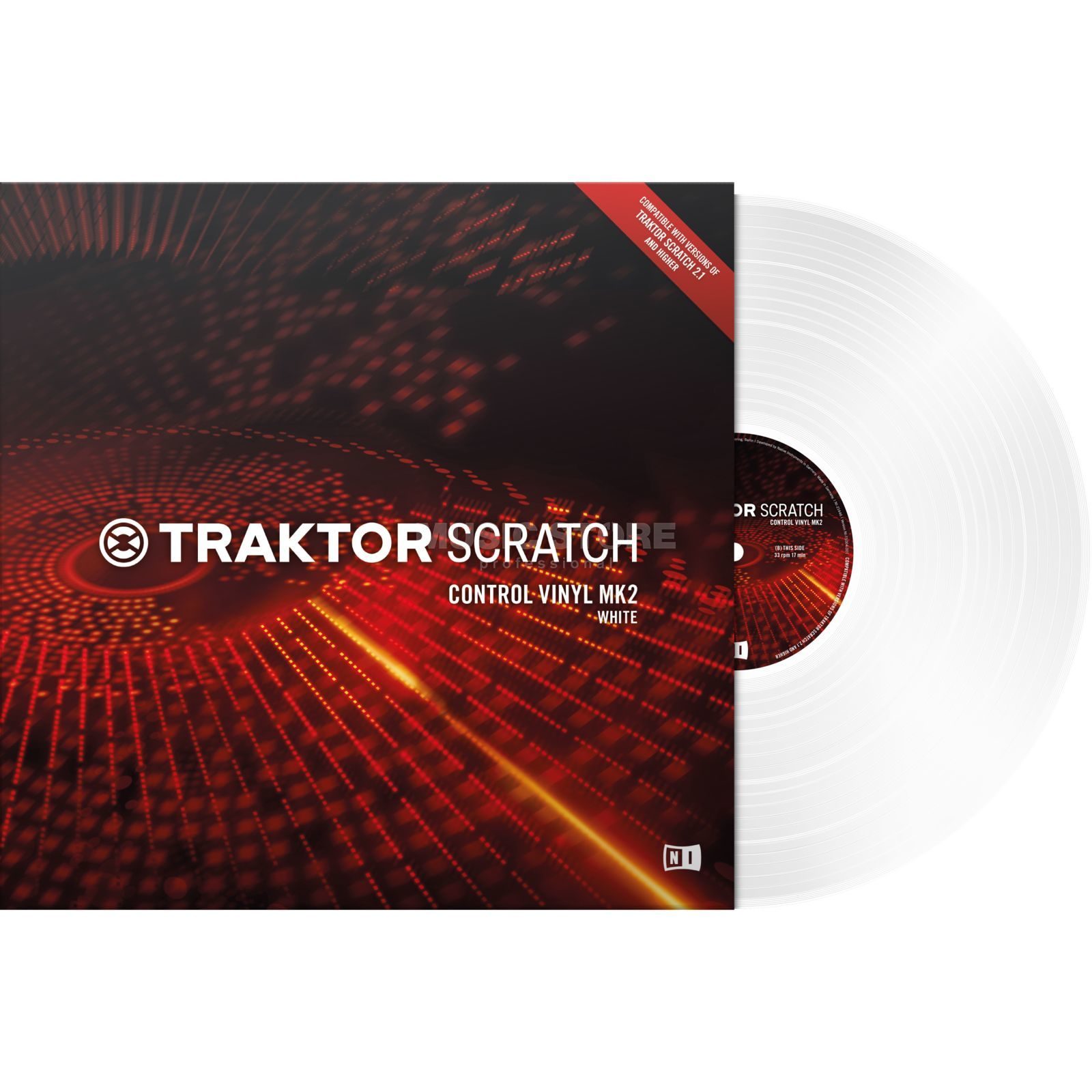 Native Instruments Traktor Scratch Control Vinyl MK2 wit Productafbeelding