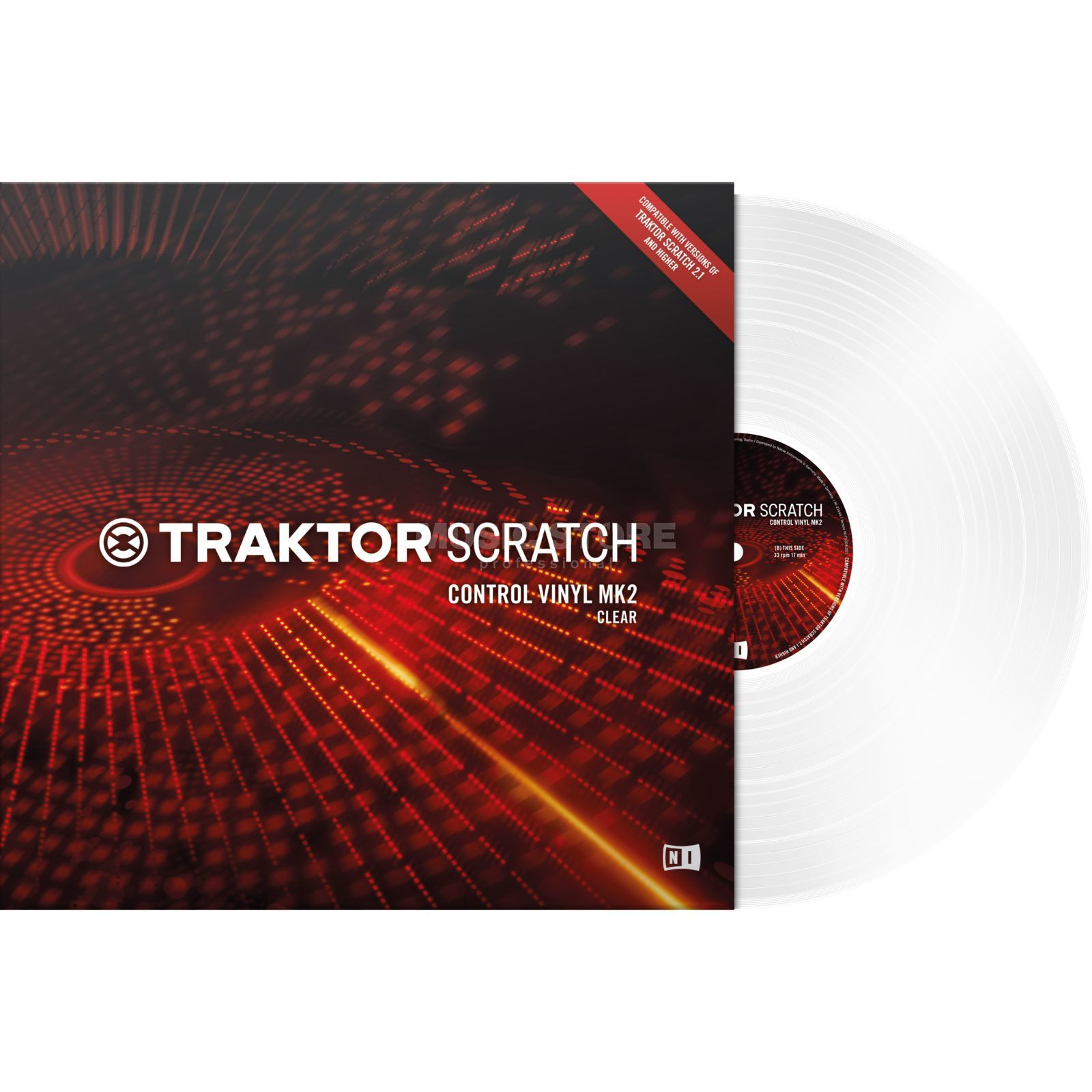 Native Instruments Traktor Scratch Timecode Vinyl MK2 Clear Изображение товара