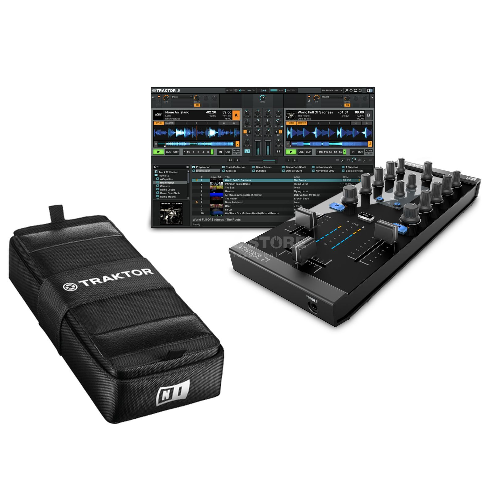 Native Instruments Z1 + Traktor Kontrol Bag - Set Produktbillede