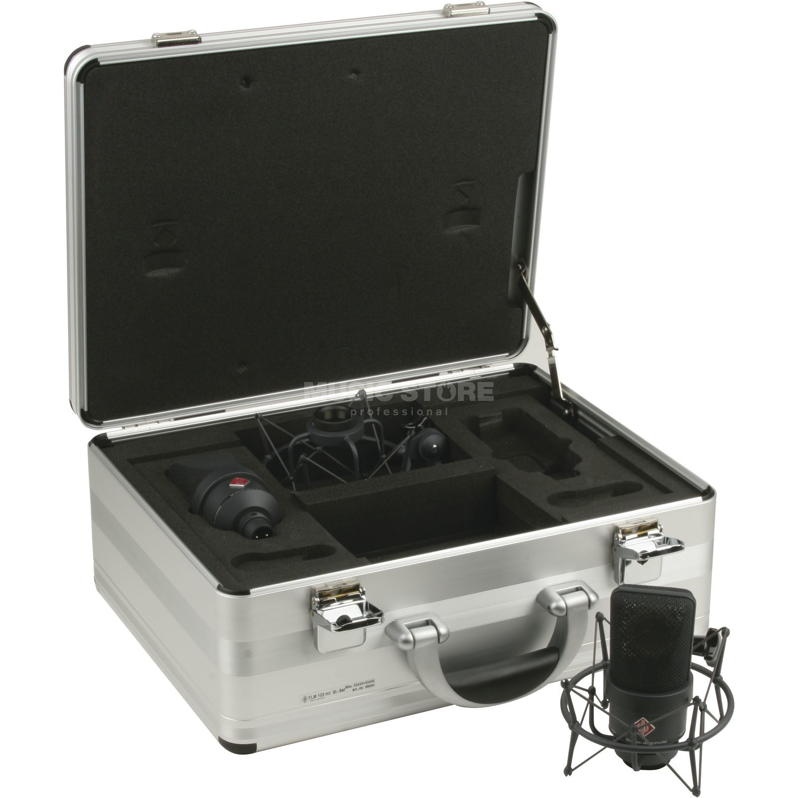 Neumann TLM 103 mt Stereo-Set black 2x Micro/2x EA1 El.Holder/Case Produktbillede