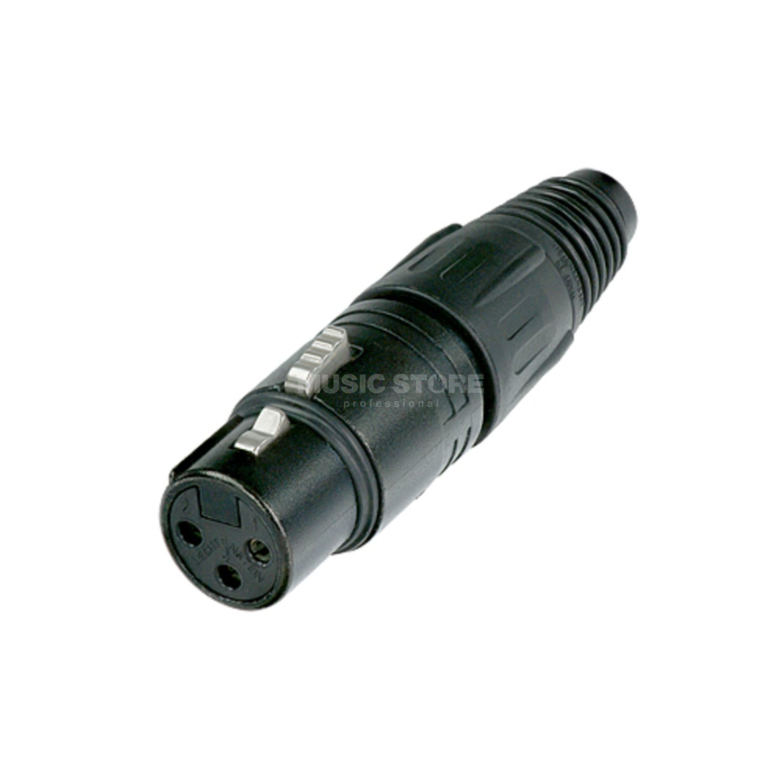 Neutrik NC3FX-B Cable Connector female, 3-pole, black Produktbillede