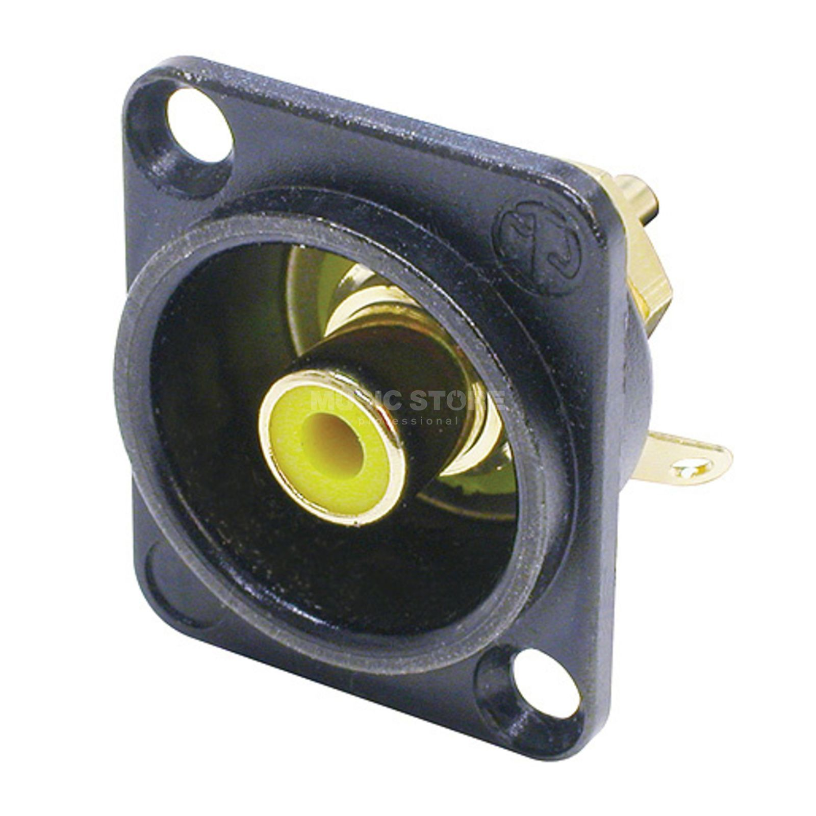 Neutrik NF2D-B-4 RCA Mounting Socket yellow Produktbillede