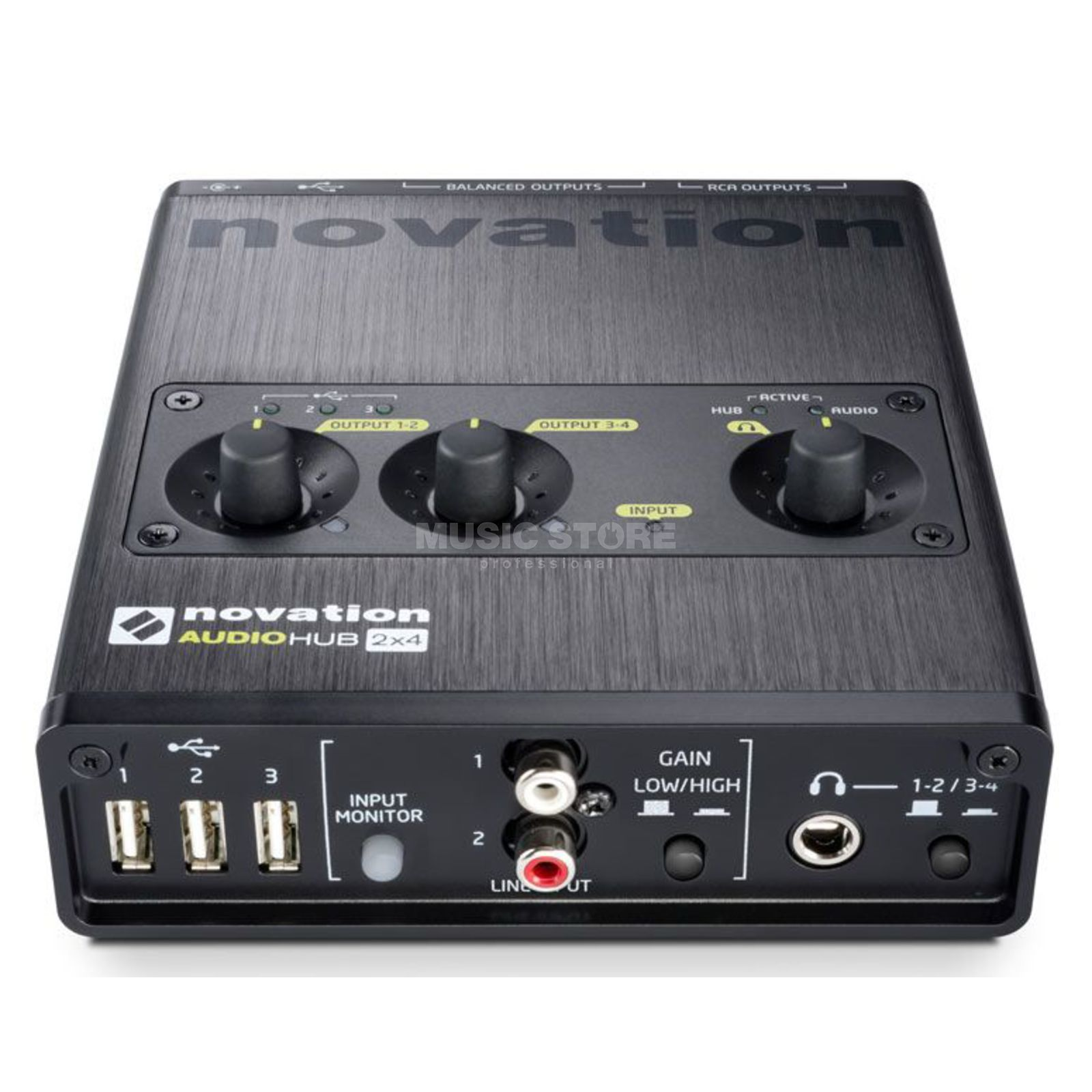 Novation Audiohub 2x4 Audio-Interface und USB-Hub Produktbild
