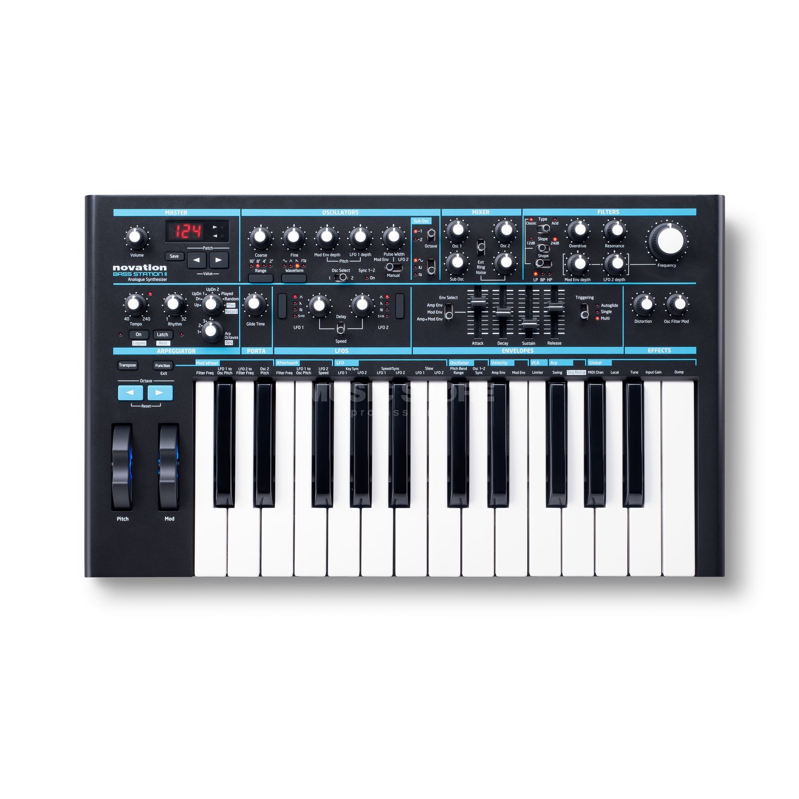 Novation Bass Station II Analog Synthesizer Produktbillede