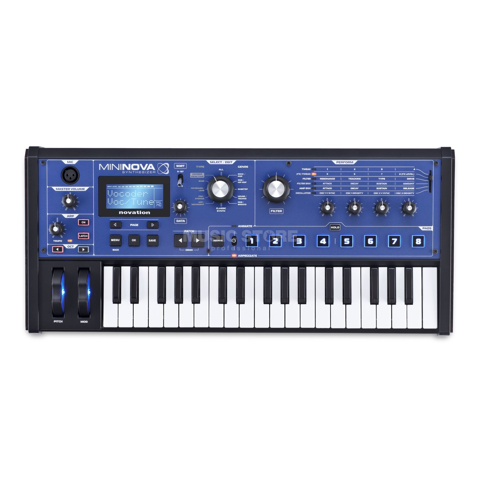 Novation MiniNova Synthesizer / Vocoder Produktbillede