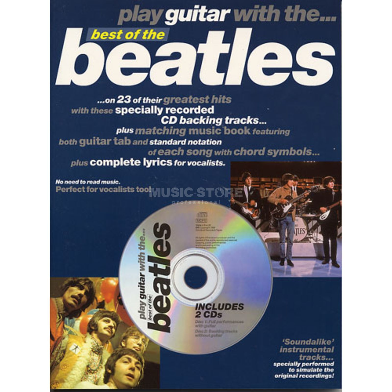 Novello Play Guitar With - The Beatles TAB and CD Produktbillede