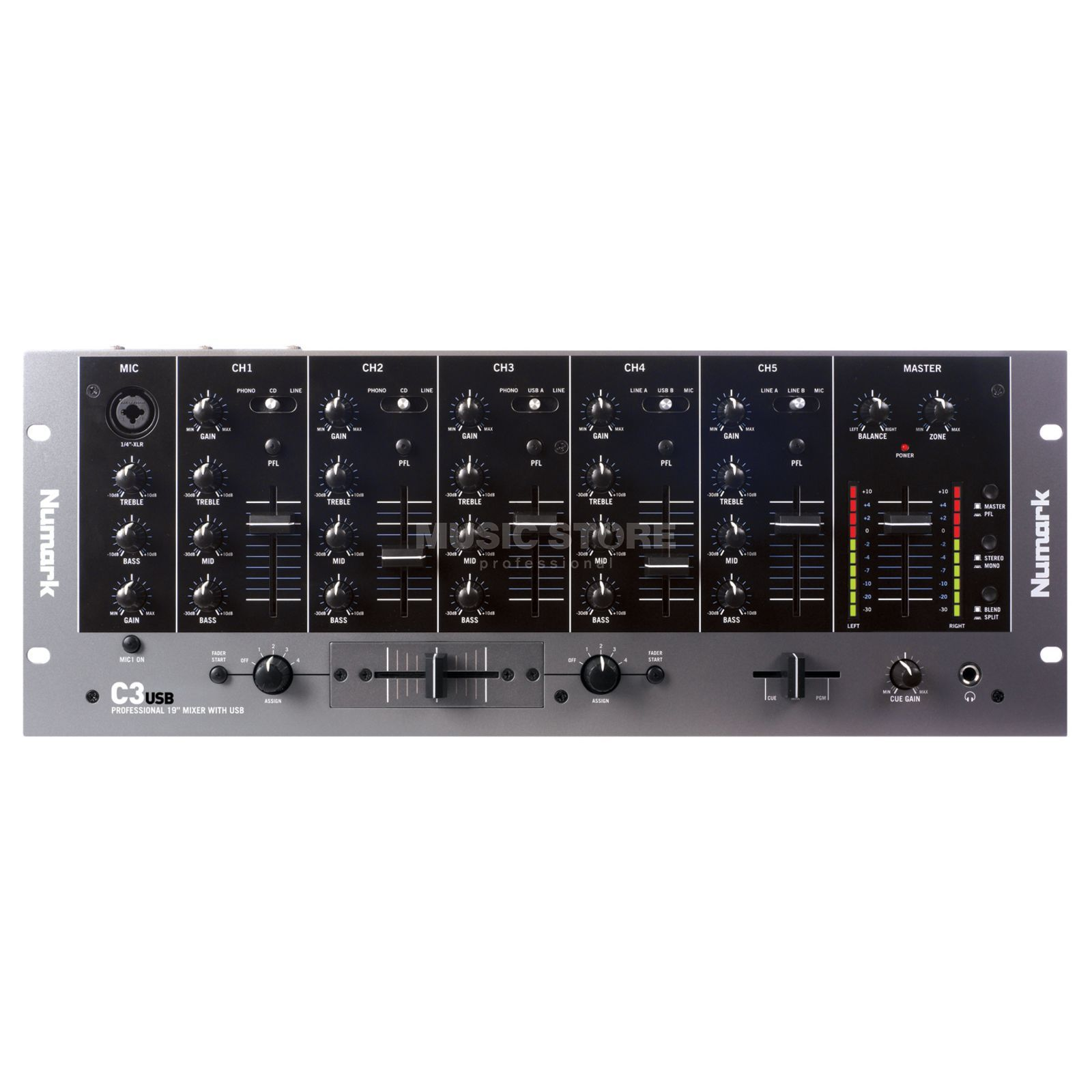 Numark C3USB DJ Rack Mixer with USB I/O Product Image