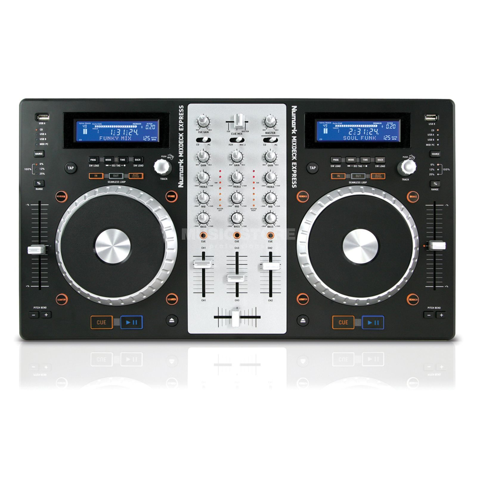 Numark Mixdeck Express DJ System mit CD/MP3/USB Decks Produktbild