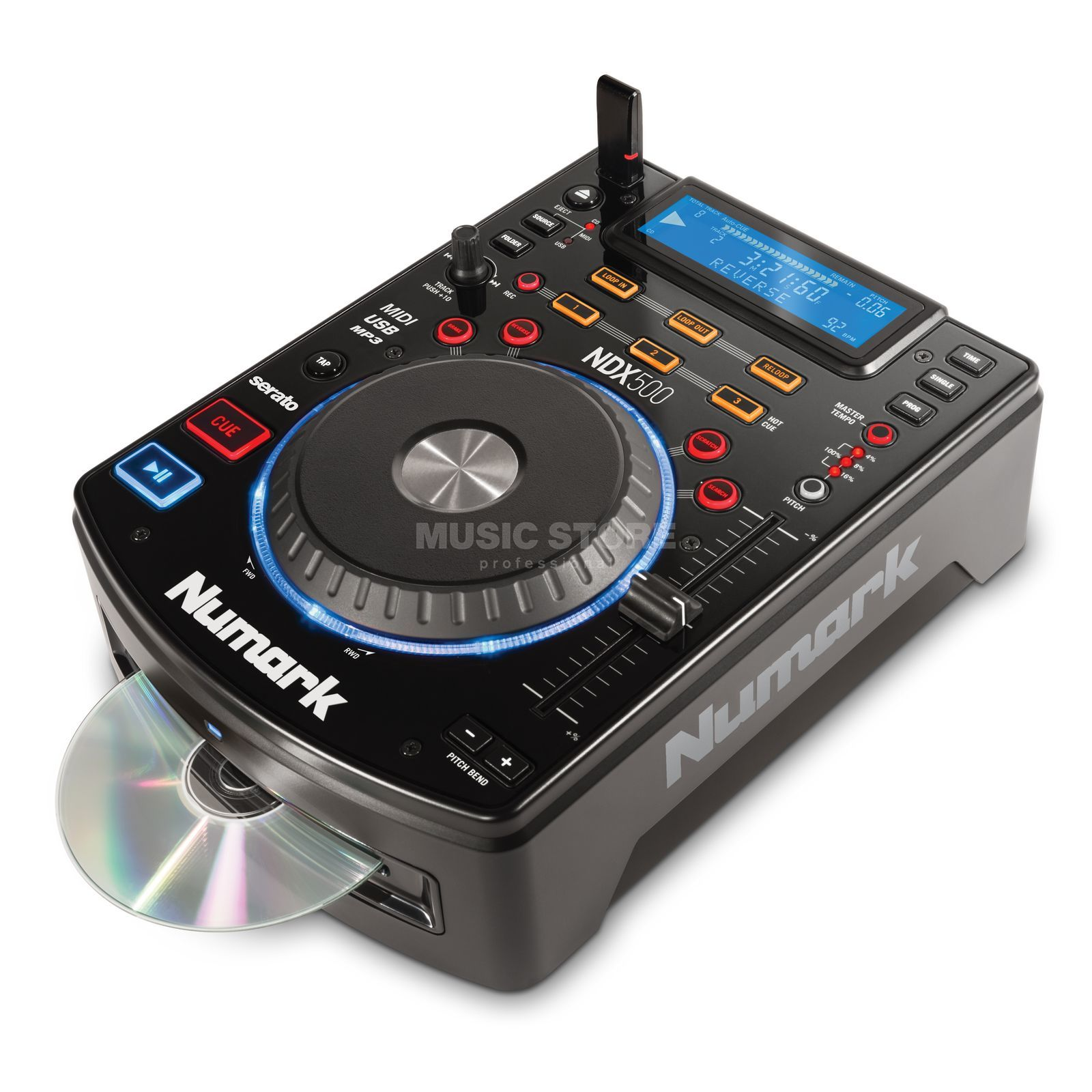 Numark NDX500 USB/CD Media Player/Controller Zdjęcie produktu