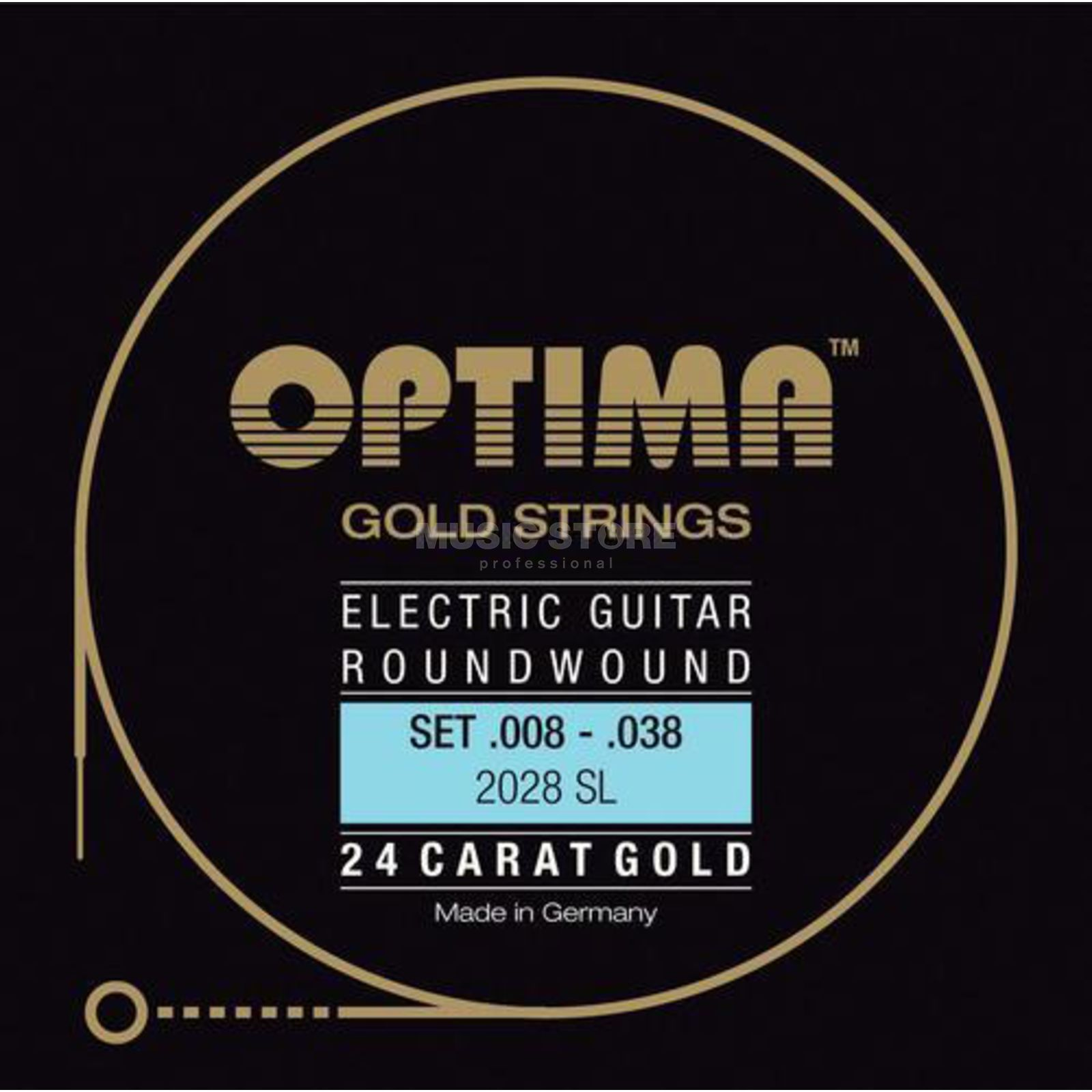 Optima E-Git.Saiten,08-38,GoldStrings Super Light 2028SL Produktbild