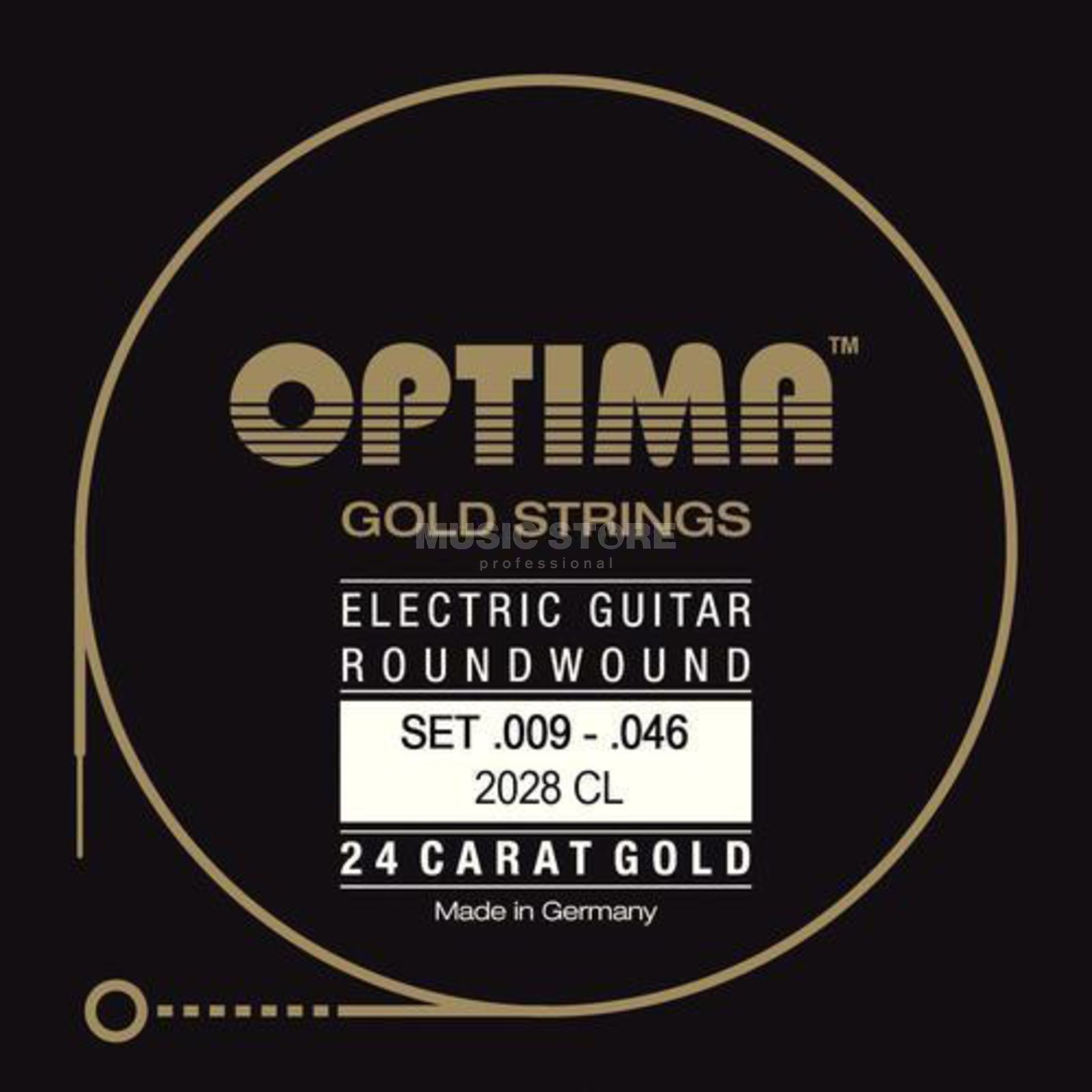 Optima E-Git.Saiten,09-46,GoldStrings Custom Light 2028CL Produktbild