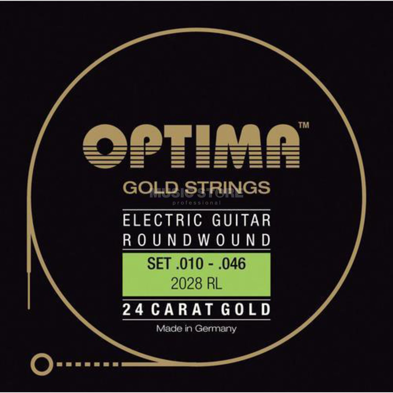 Optima E-Git.snaren,10-46,goudStrings Regular Light 2028RL Productafbeelding