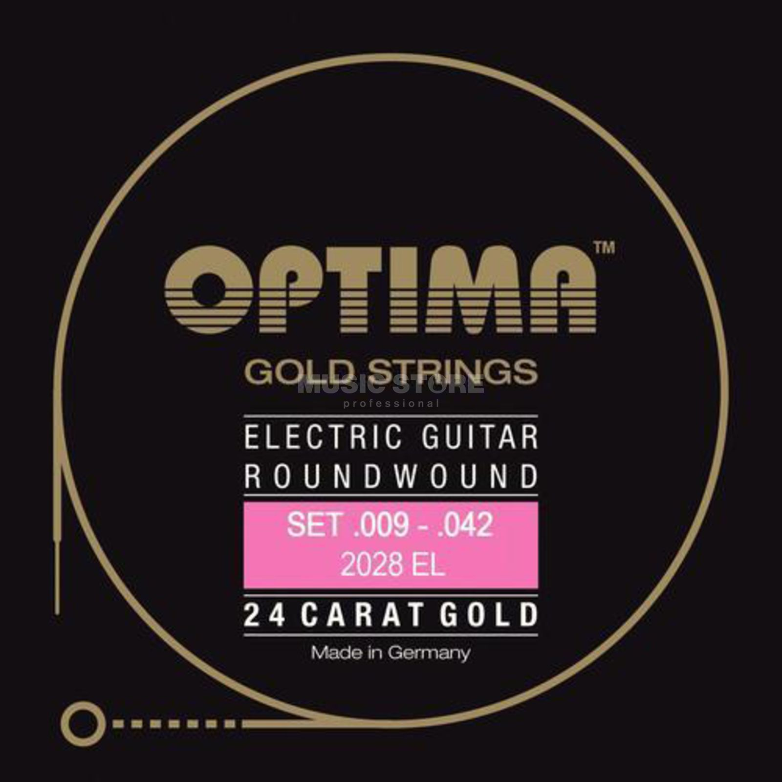 Optima E-Guit. Strings 09-42, GoldStrings Produktbillede