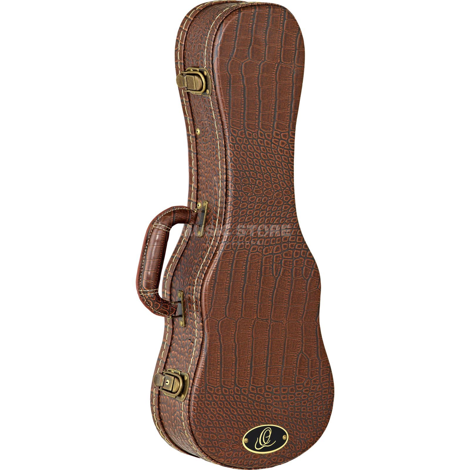 Ortega OUC-SO Ukulele Case Soprano Brown Croco Finish Produktbillede