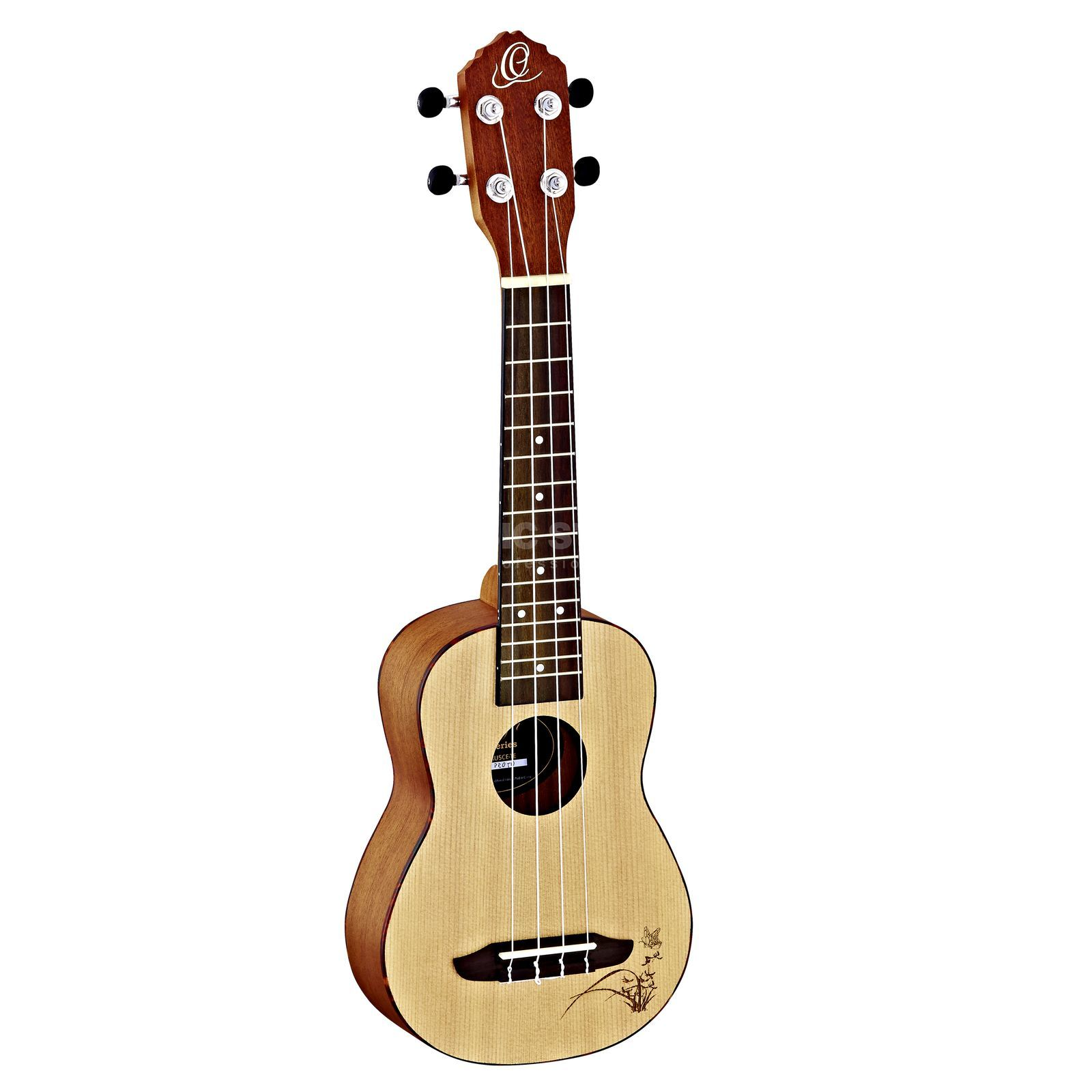 Ortega RU5-SO Soprano Ukulele Natural Product Image