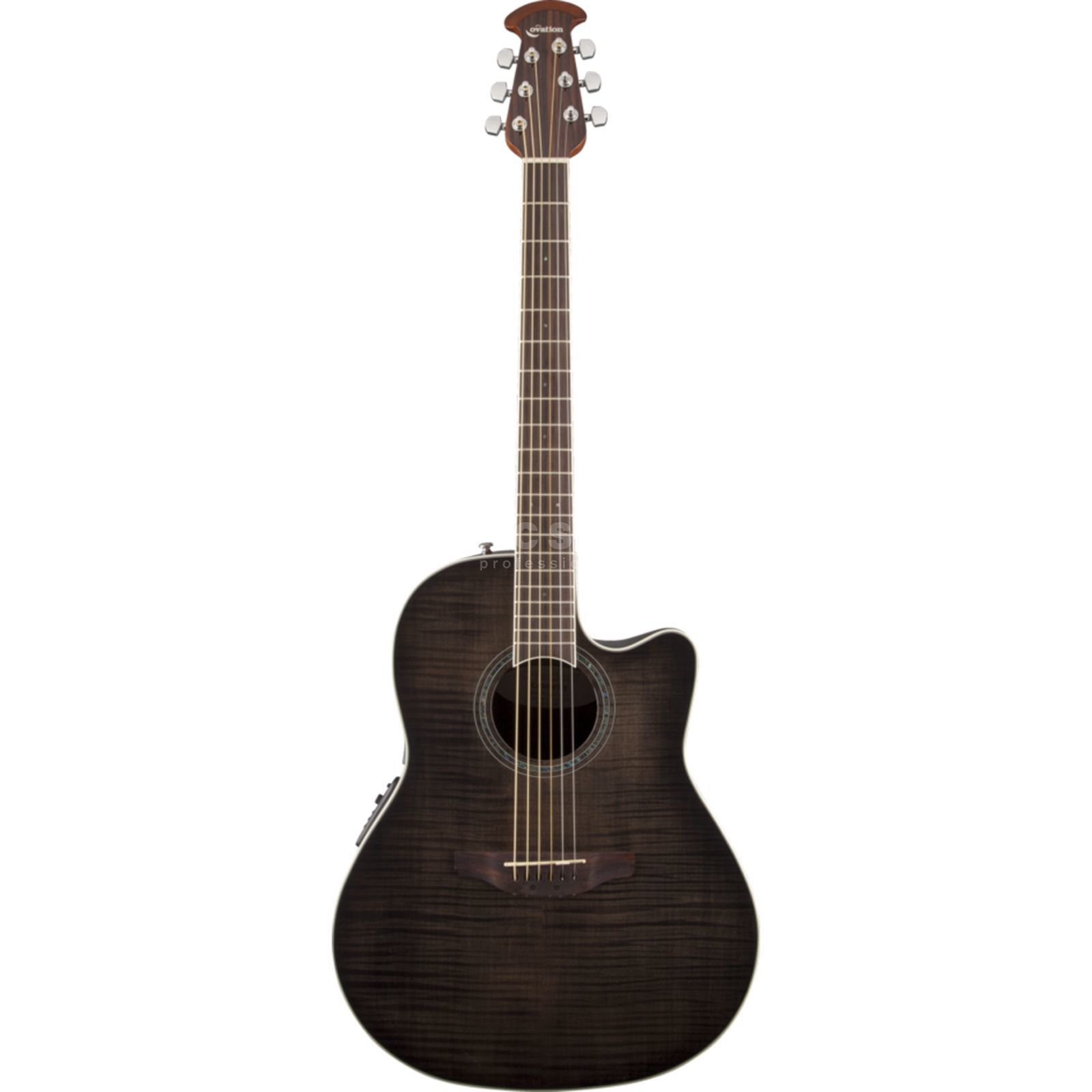 Ovation CS24P-TBBY Celebrity Std. Plus Trans Black Flame Maple Produktbild