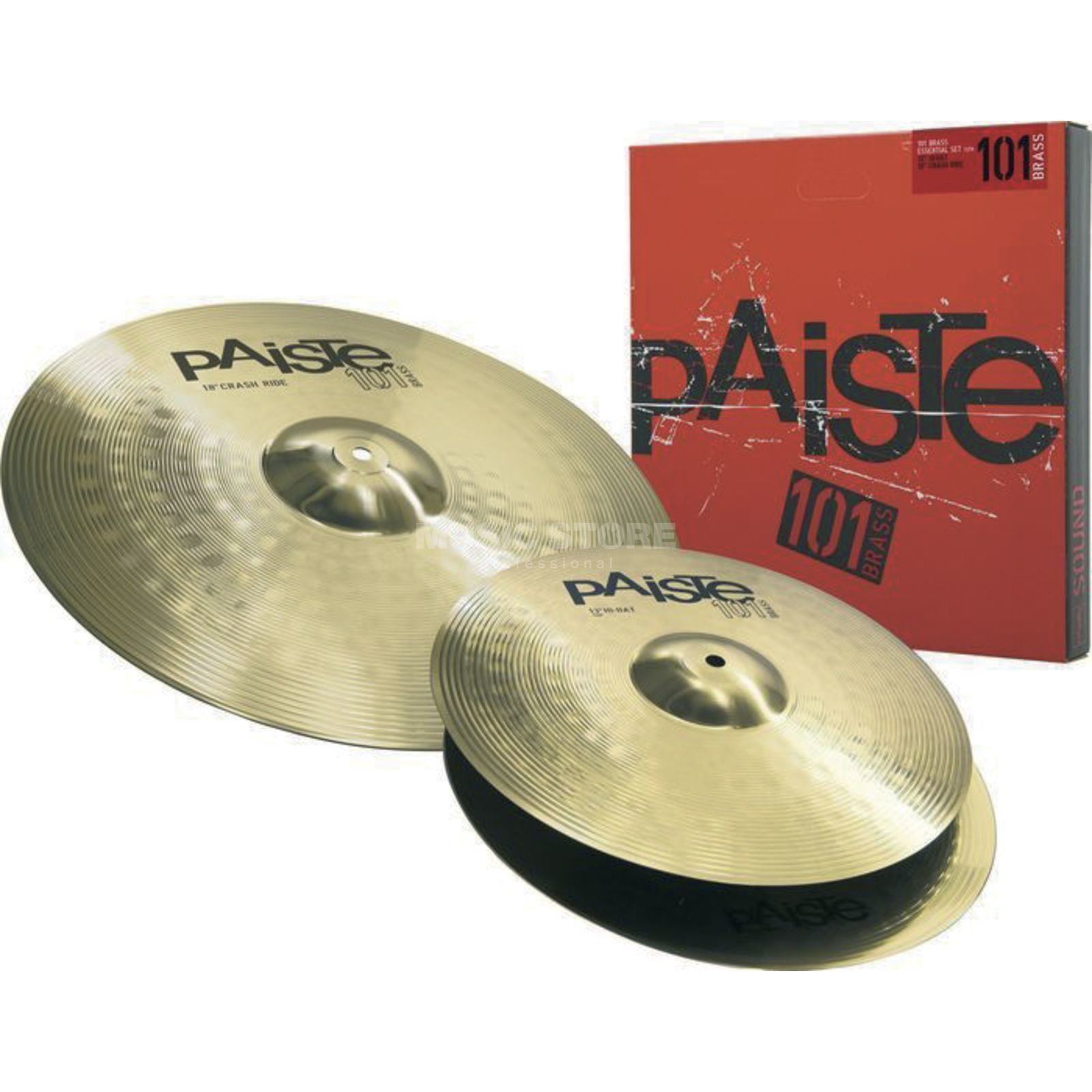 "Paiste 101 Brass Cymbal Set Essential 13"" HiHat, 18"" Crash Ride Produktbild"