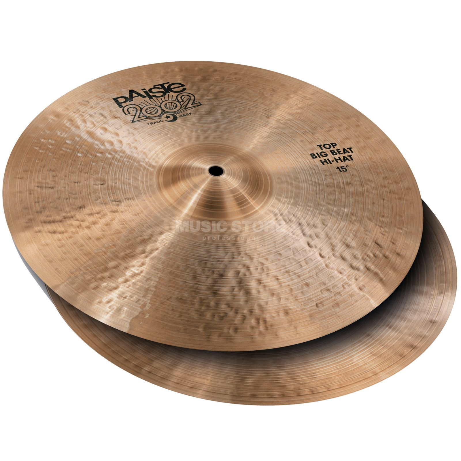 "Paiste 2002 Black Big Beat HiHat, 15"" Product Image"
