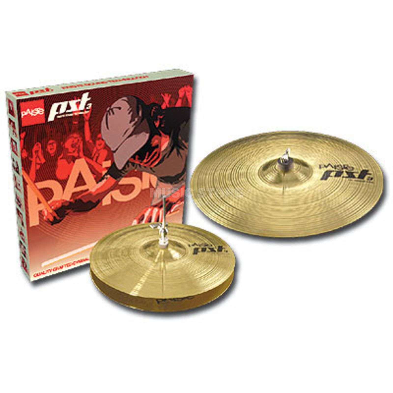 "Paiste PST3 Cymbal Set ""Essential"" 13"" HiHat, 18"" Crash Ride Produktbild"