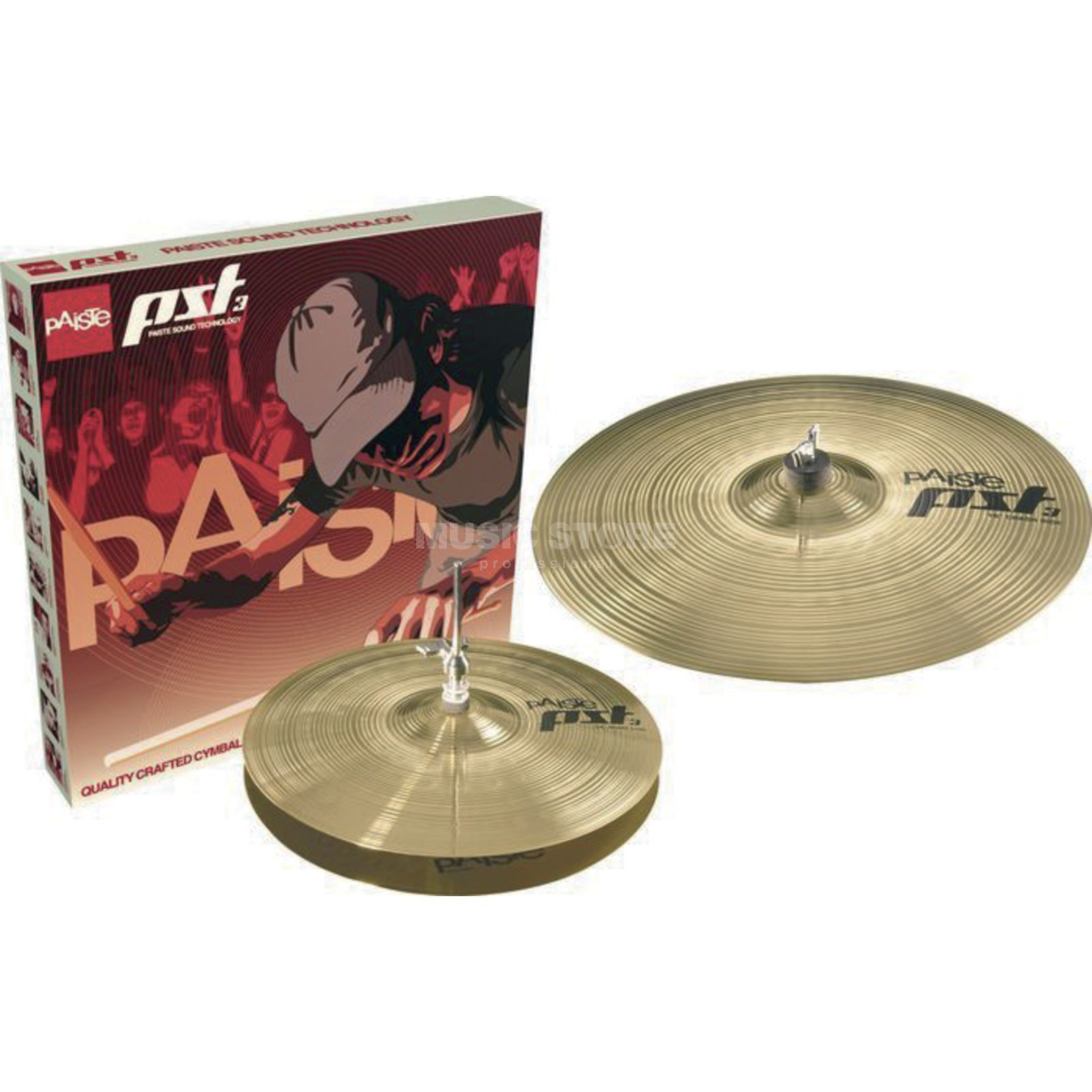 "Paiste PST3 Cymbal Set ""Essential"" 14"" HiHat, 18"" Crash Ride Produktbild"