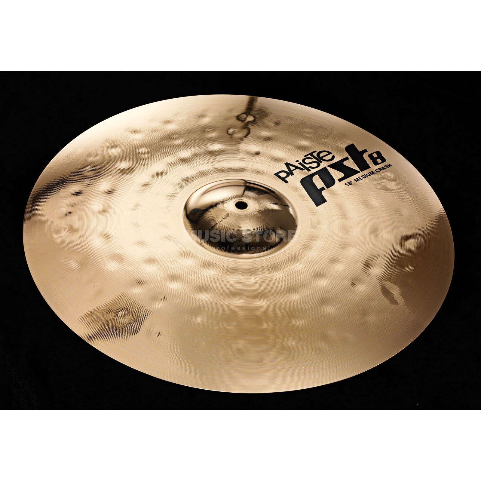 "Paiste PST8 Medium Crash 18"", Reflector Finish Produktbillede"