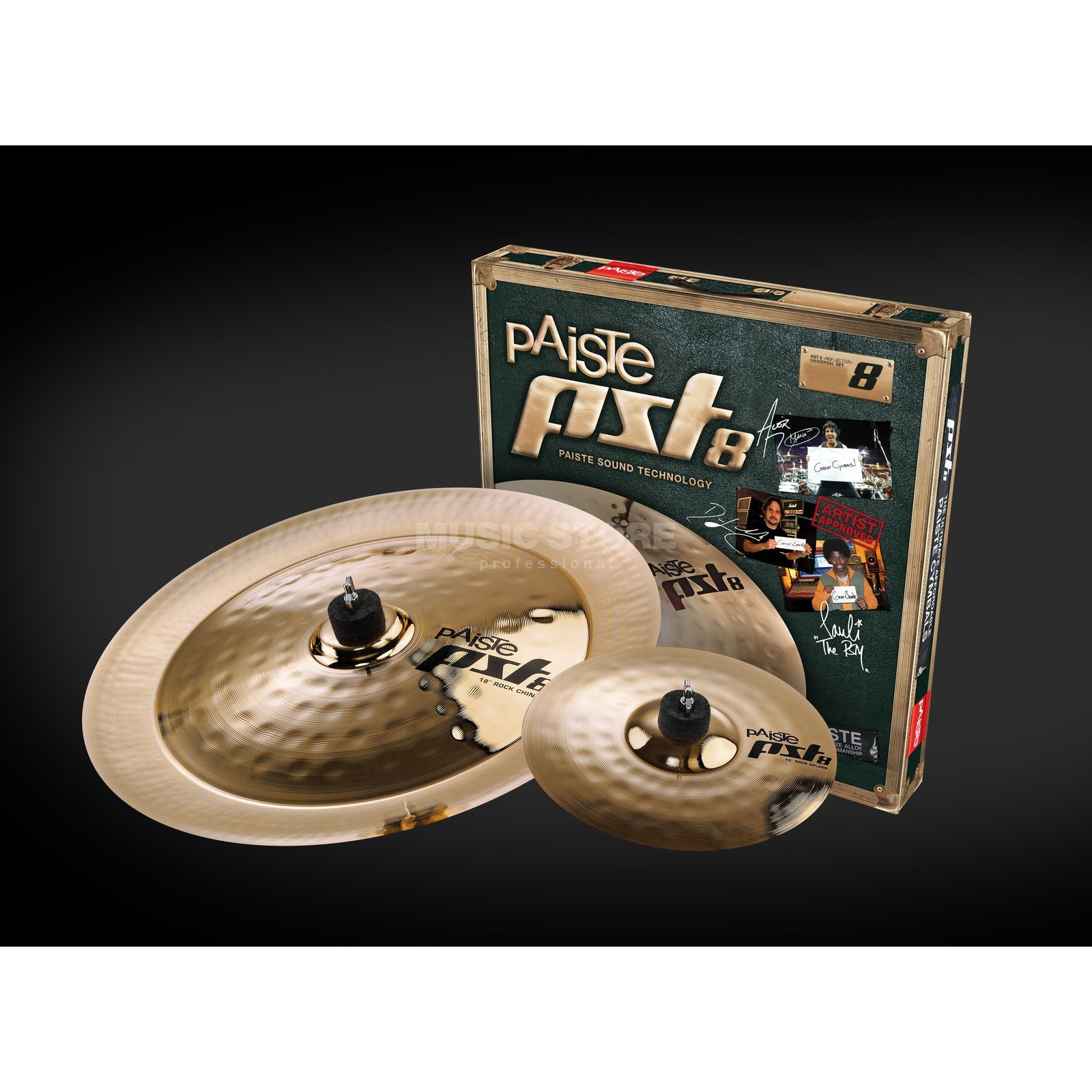 "Paiste PST8 Rock Effects Cymbal Set, 10""SP, 18""CH Product Image"