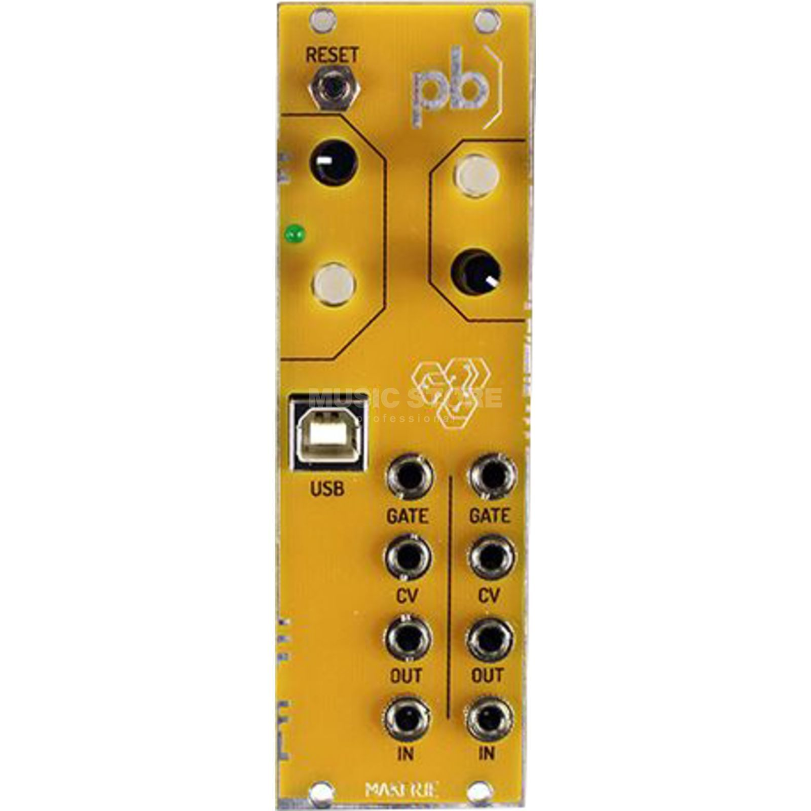 Patchblocks Patchblock Eurorack aus Demo yellow Produktbillede