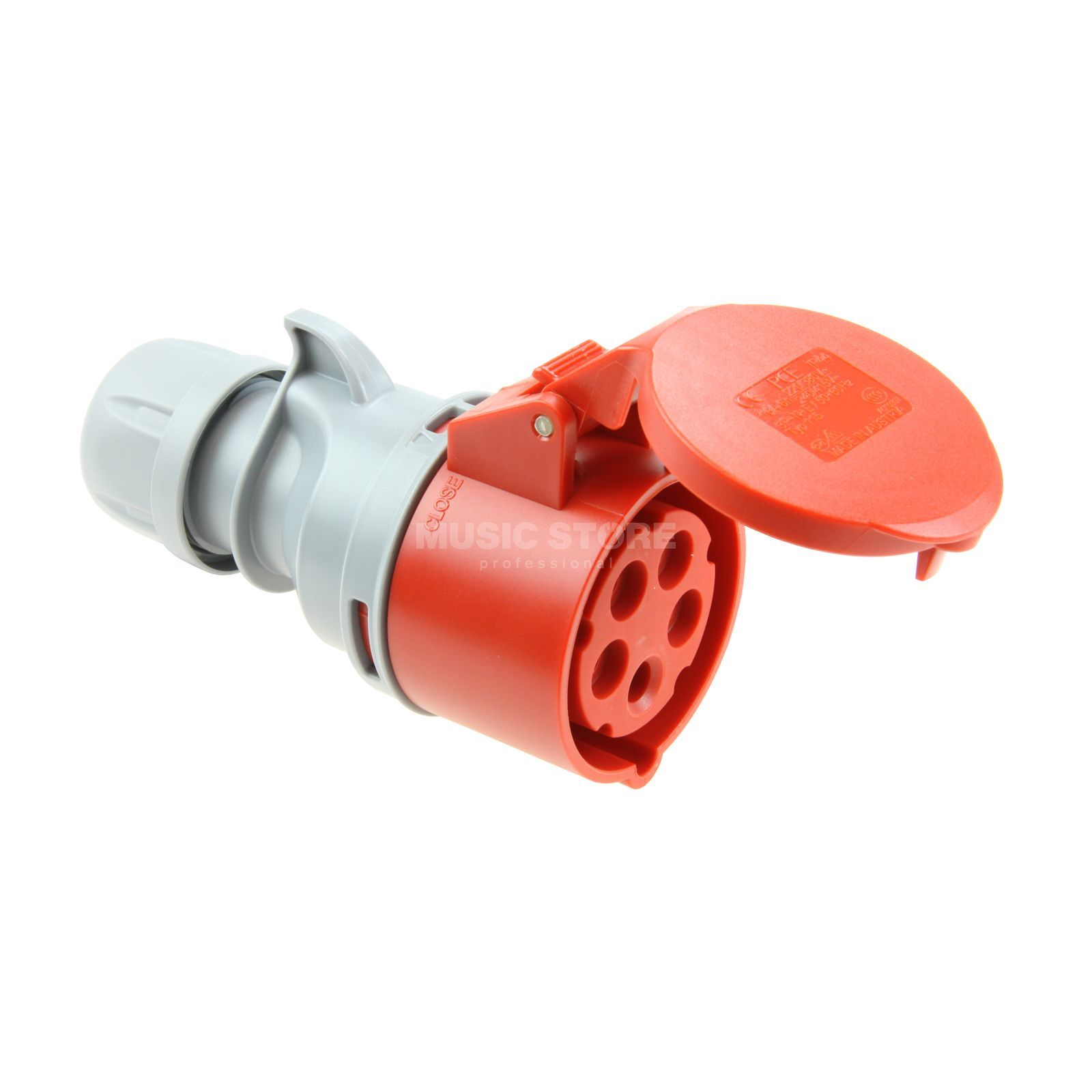 PCE Coupling CEE 16A 5pin Turbo Twist, red Produktbillede