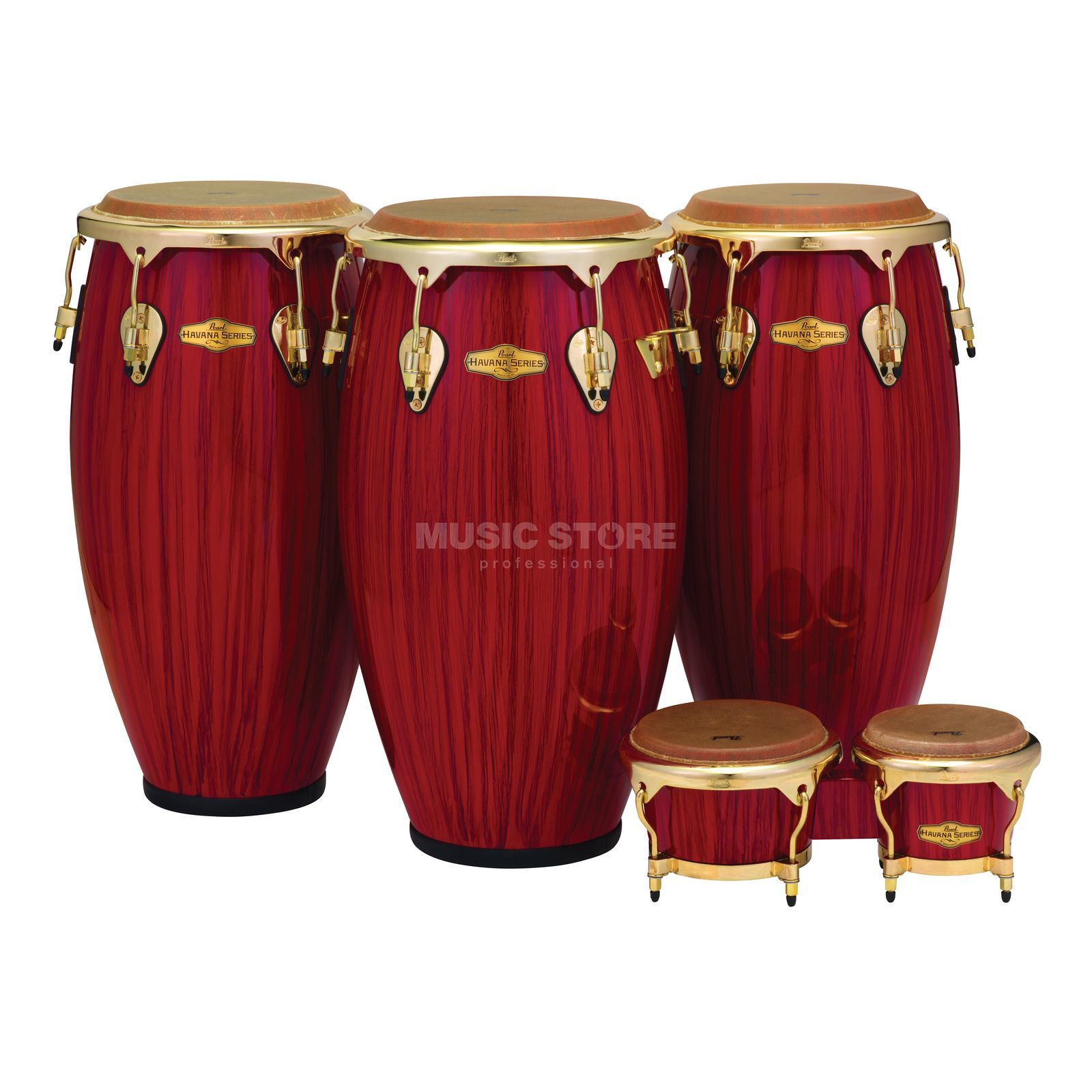 "Pearl Big Belly Havana Conga 11-3/4"", Red Tiger Stripe Productafbeelding"