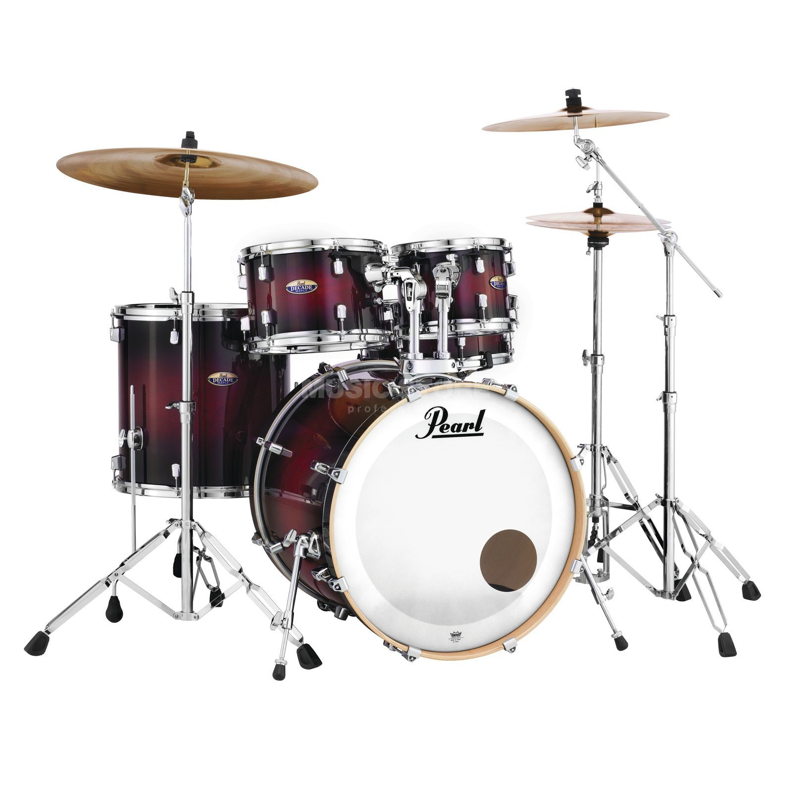 Pearl Decade Maple DMP925F/C, Gloss Deep Red Burst #261 Product Image