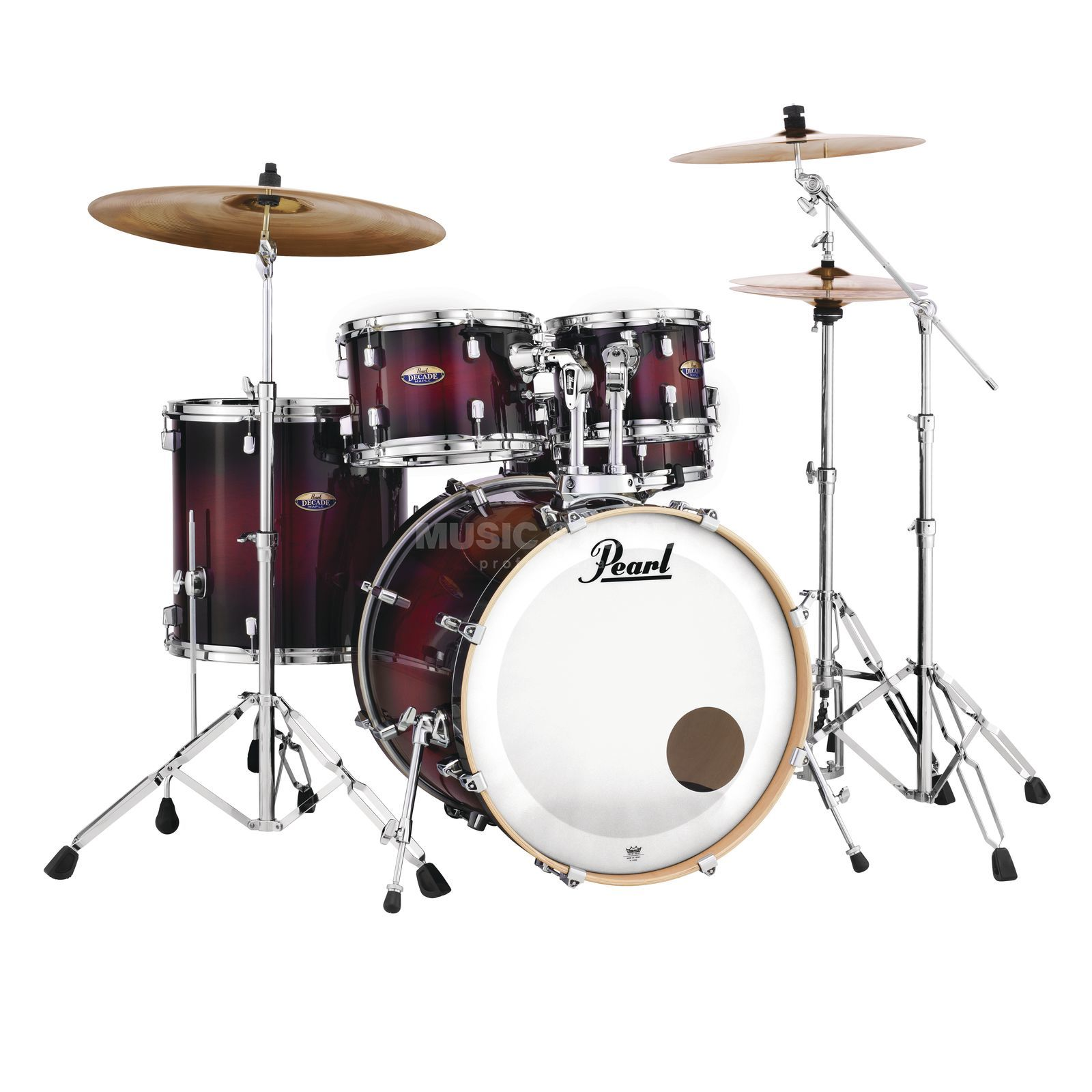 Pearl Decade Maple DMP925S/C, Gloss Deep Red Burst #261 Productafbeelding