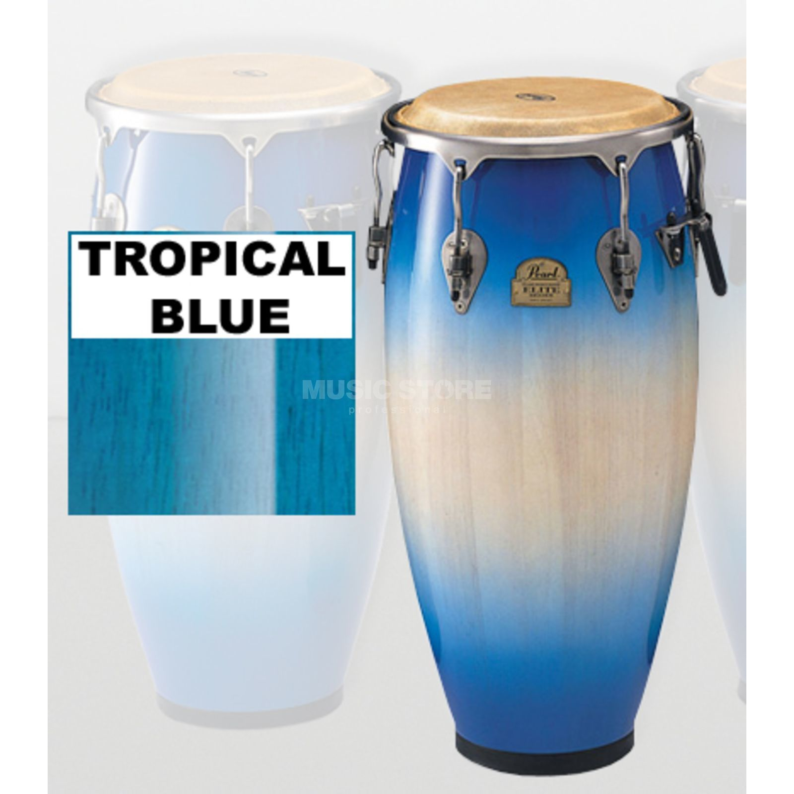 "Pearl Elite Conga PCW125DX, 12 1/2"" Tumba, Tropical Blue Product Image"