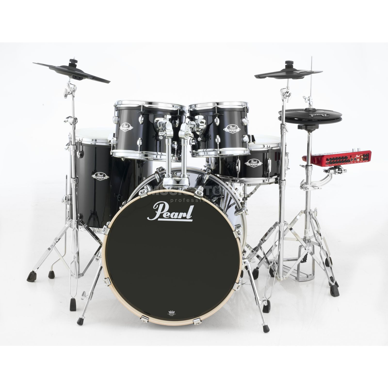Pearl ePro Live E-DrumSet EPEXX725S/C, Jet Black Produktbillede