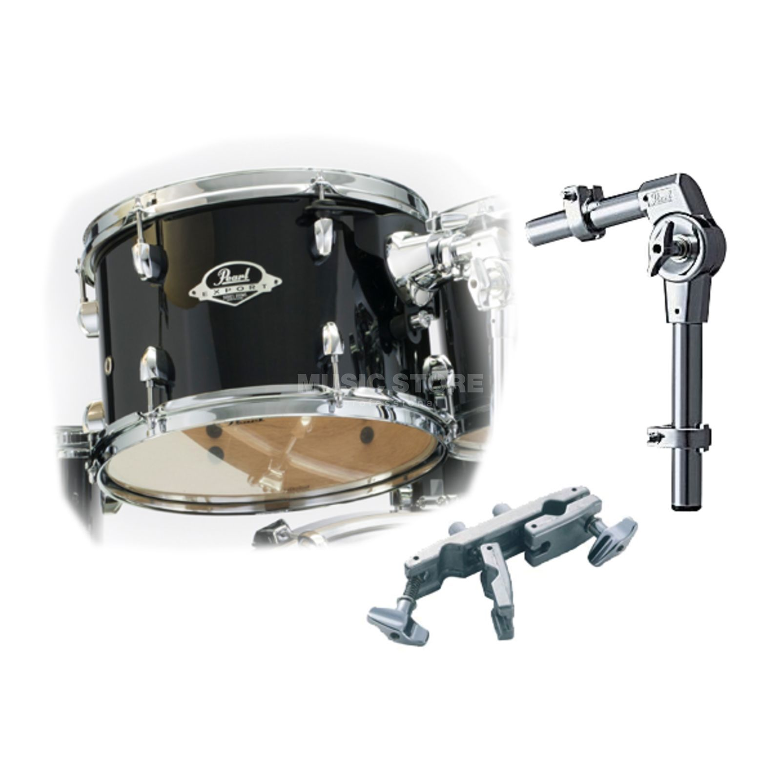 "Pearl Export Tom Add-On Pack 10""x7"", Black Smoke #248 Produktbillede"