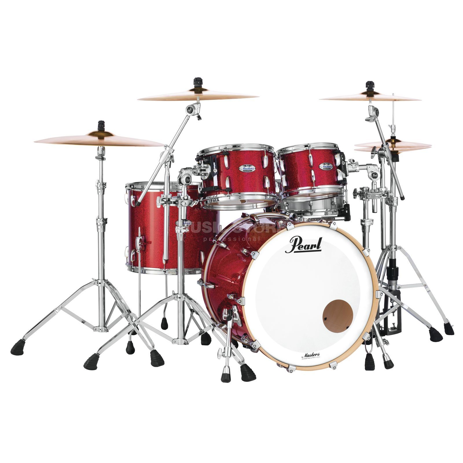 Pearl Masters Maple Complete MCT904XEP/C  Inferno Red Sparkle Product Image