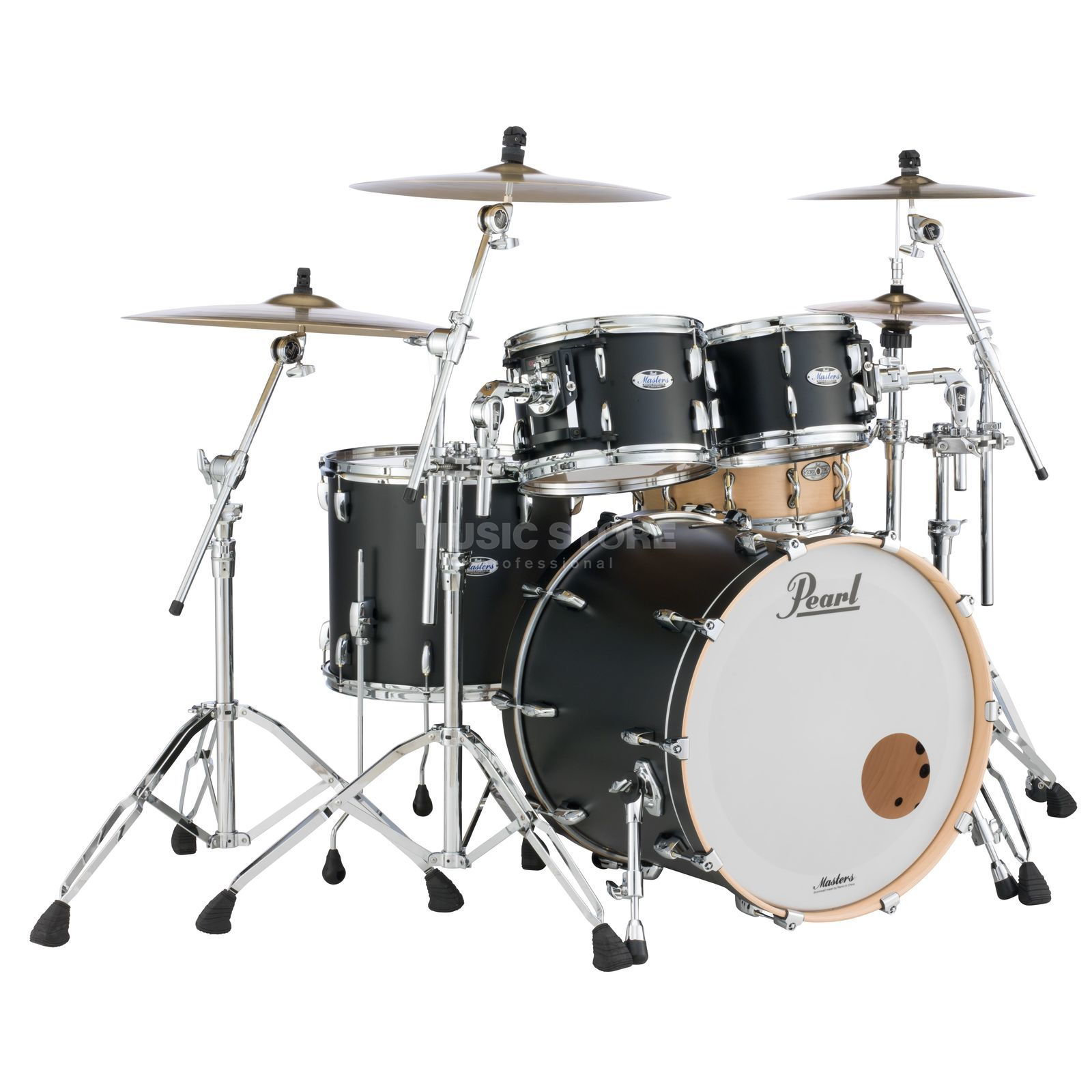 Pearl Masters Maple Complete MCT904XEP/C Matte Caviar Productafbeelding