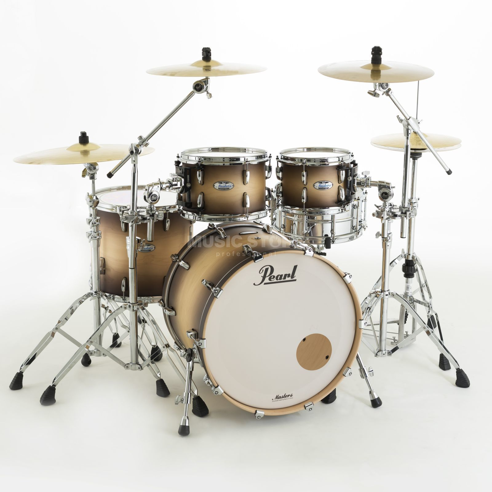 Pearl Masters Maple Complete  MCT904XEP/C Satin Natural Burst Produktbillede